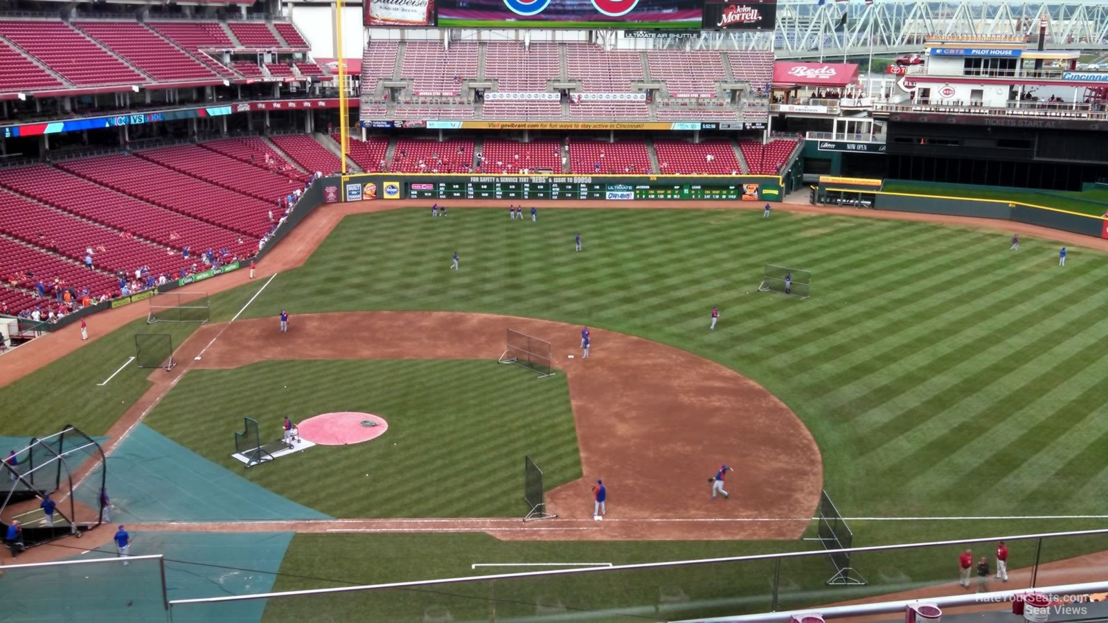 seat view for great american ball park section 430