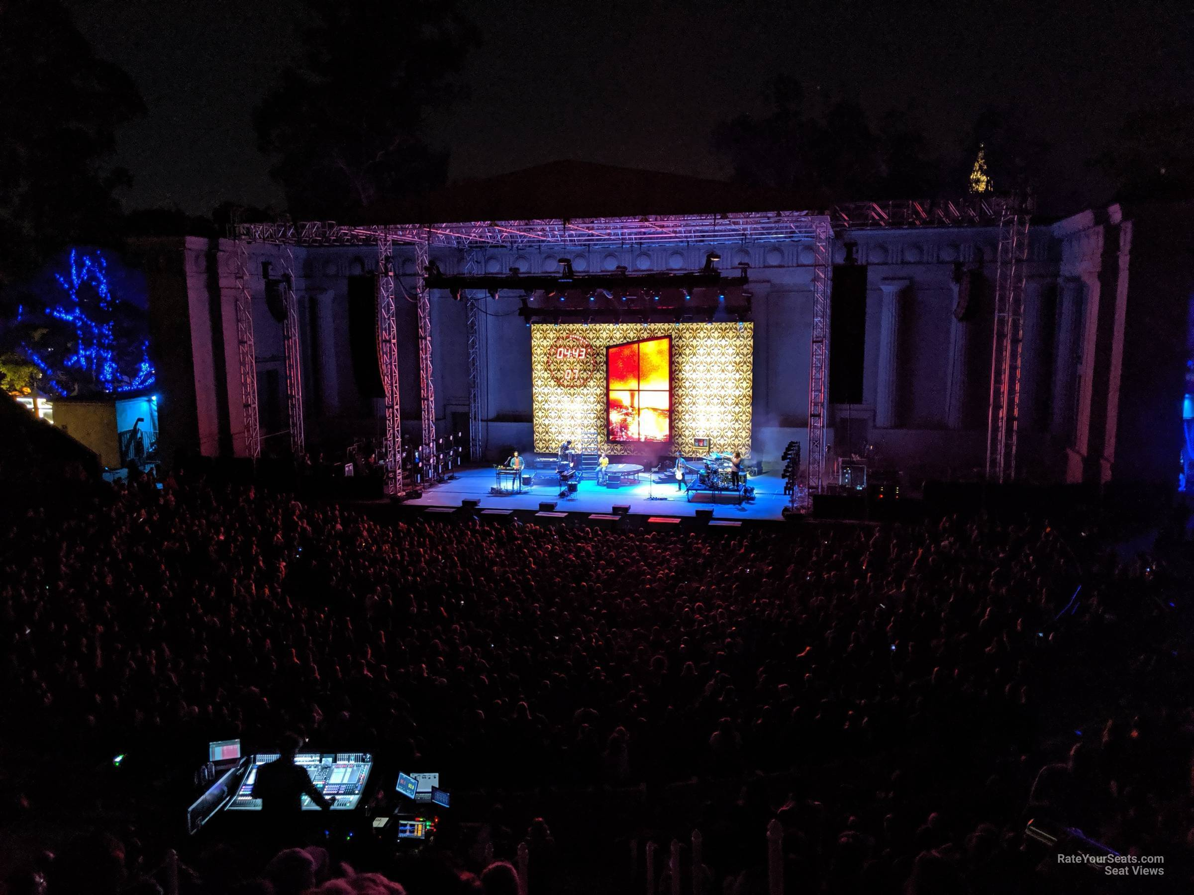 Concert Seat View for Greek Theatre - Berkeley Section 5, Row 20