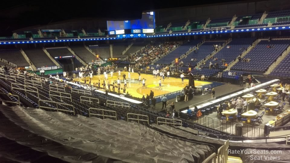 Seat View for Greensboro Coliseum Section 113, Row NN