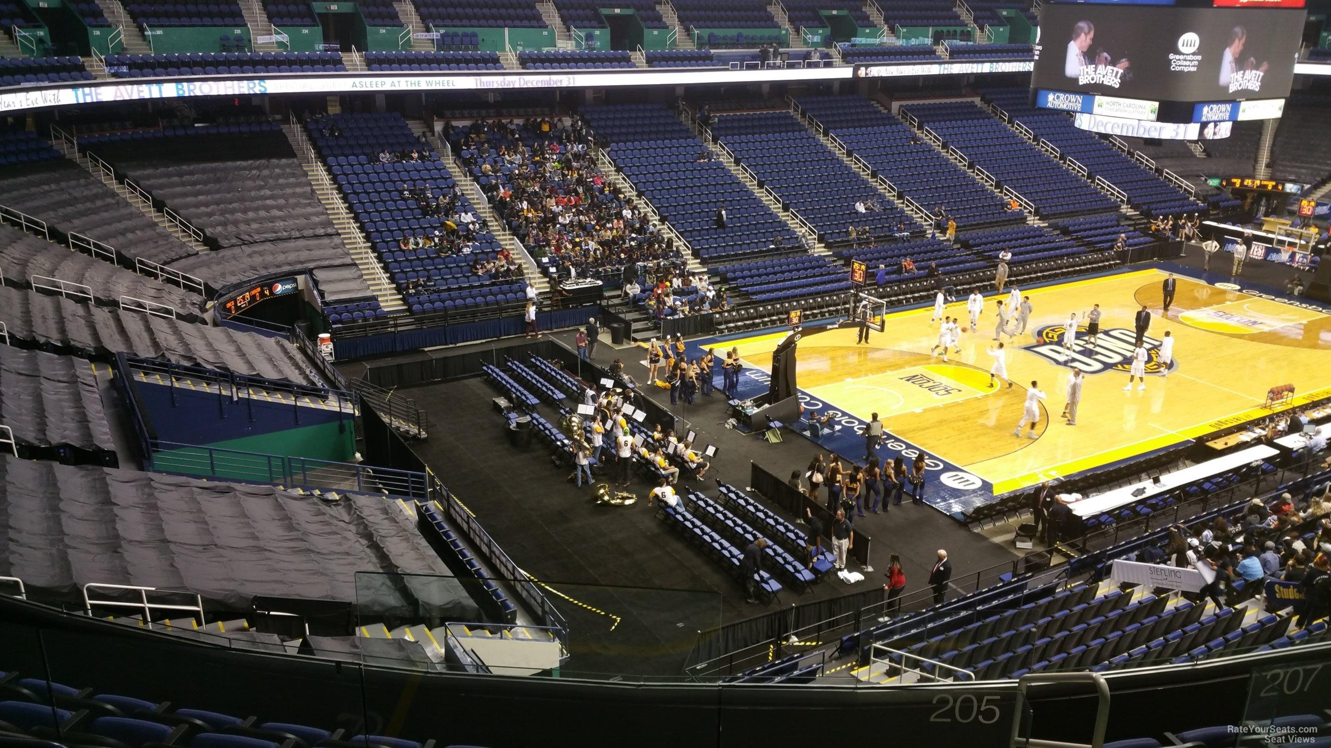 Greensboro Coliseum Section 205 Unc Greensboro
