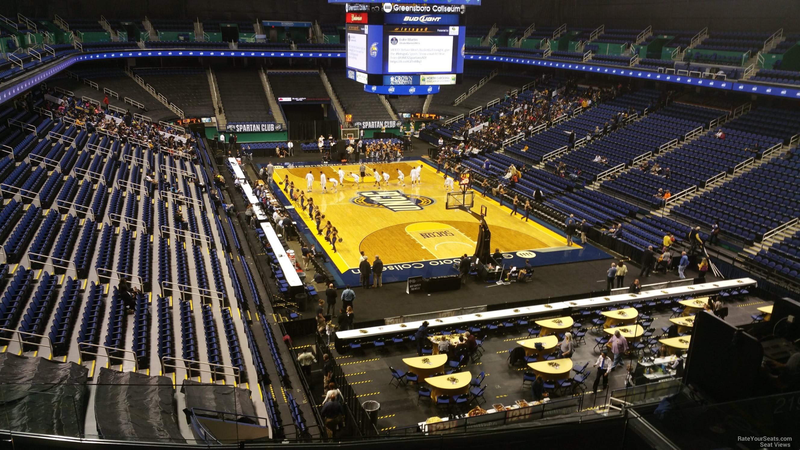 Greensboro Coliseum Section 219 Unc Greensboro