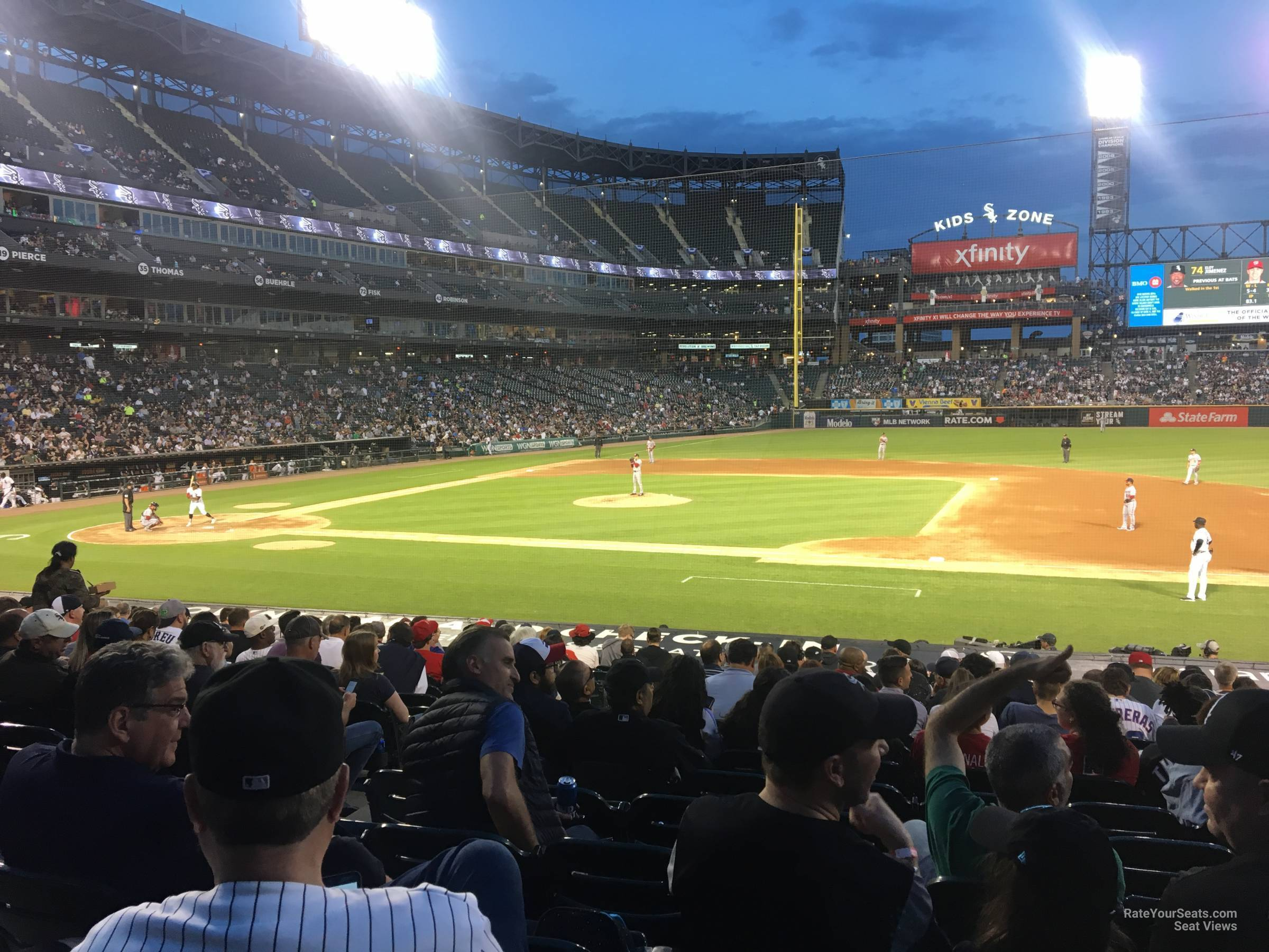 Seat View for Guaranteed Rate Field Section 123, Row 24