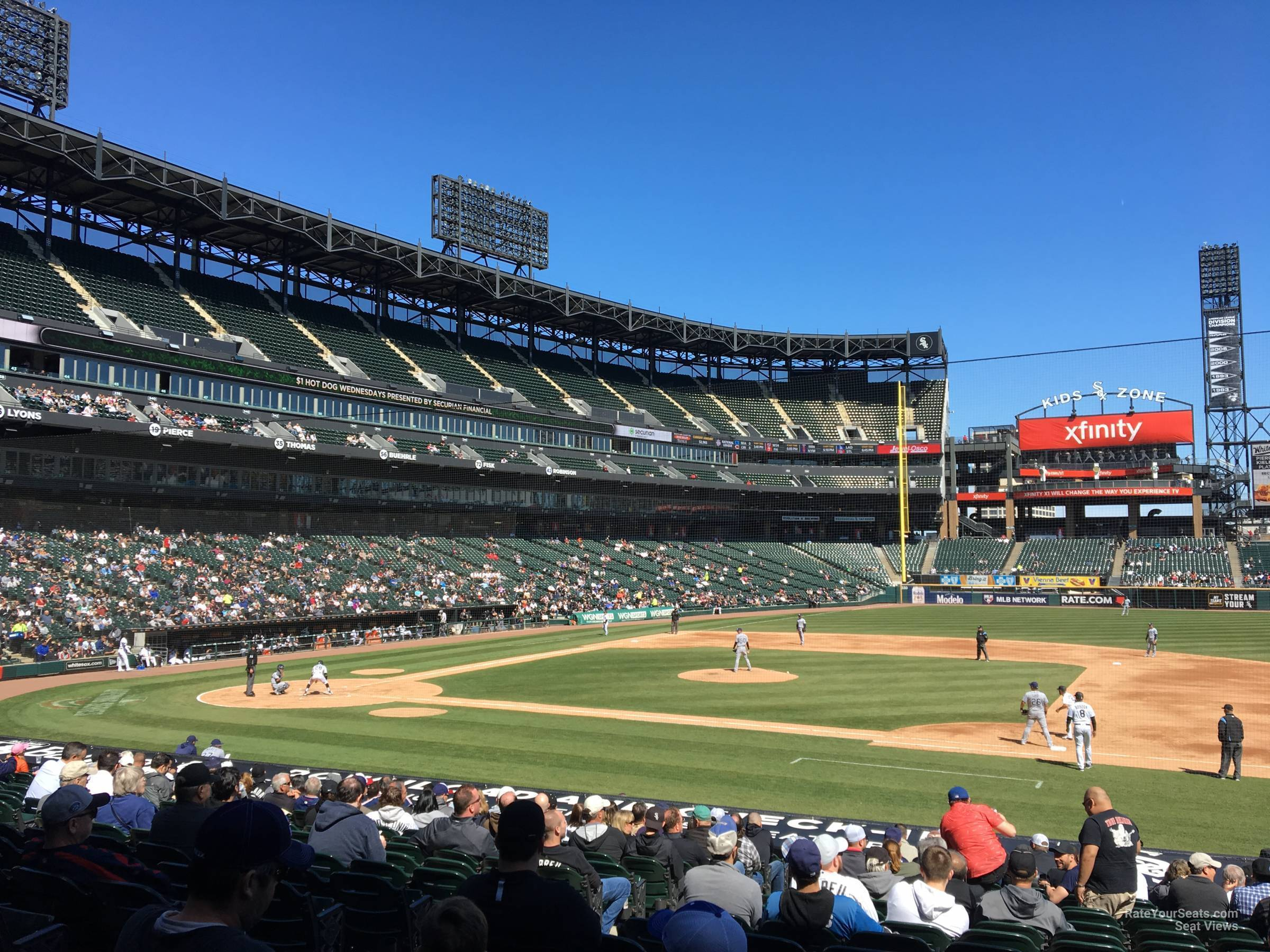 Seat View for Guaranteed Rate Field Section 123, Row 25