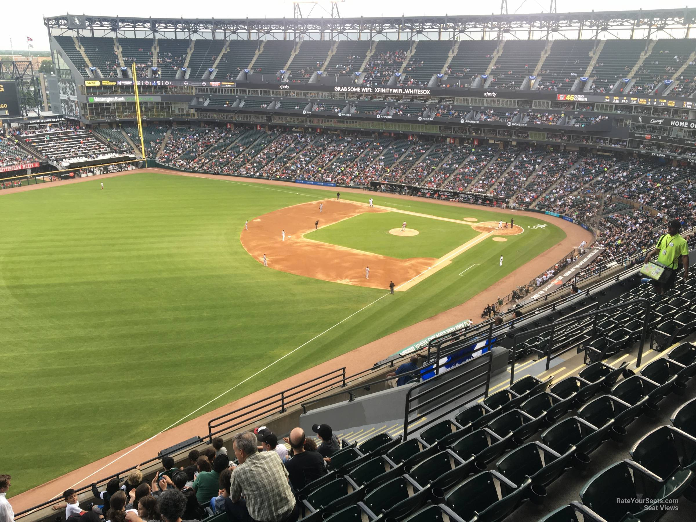 Seat View for Guaranteed Rate Field Section 552, Row 12