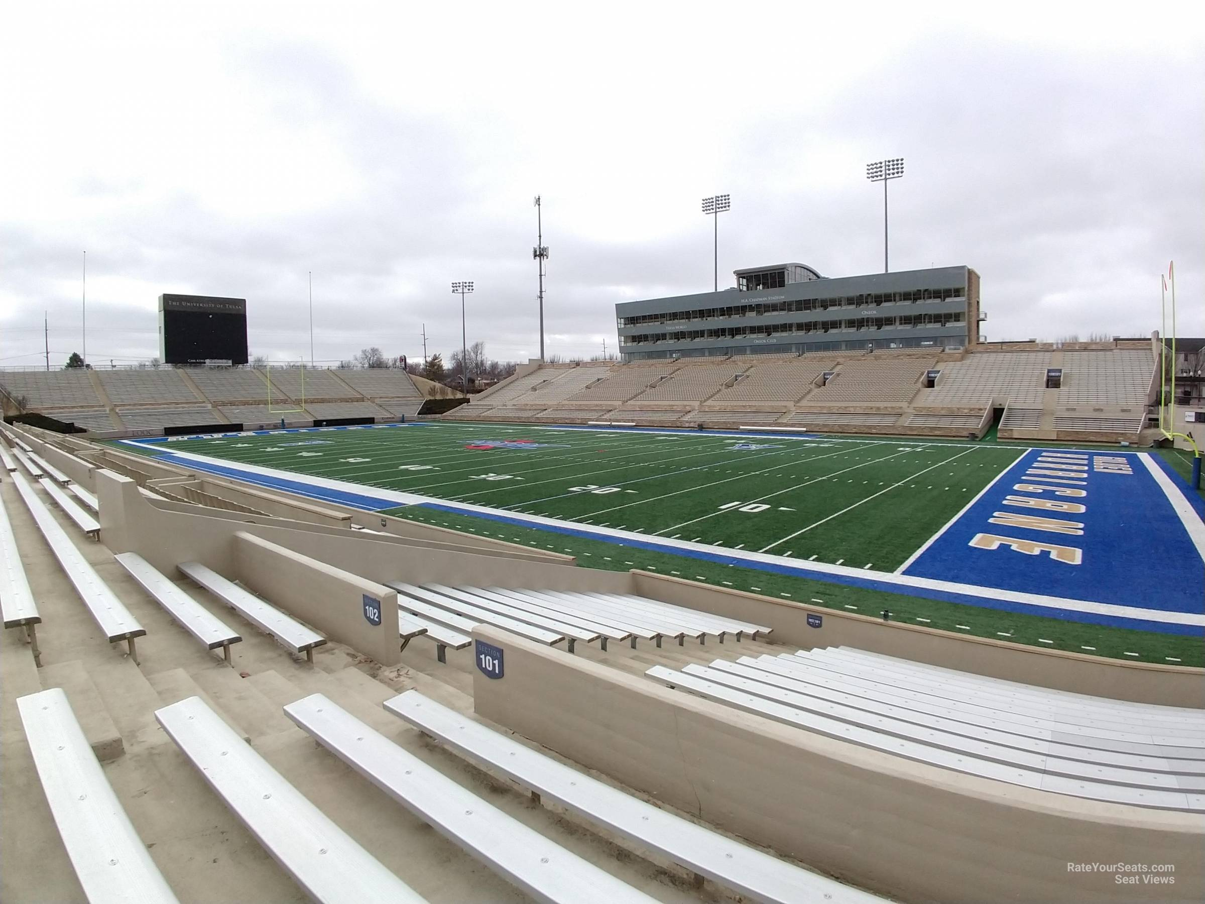 Seat View for H.A. Chapman Stadium Section 101, Row 19