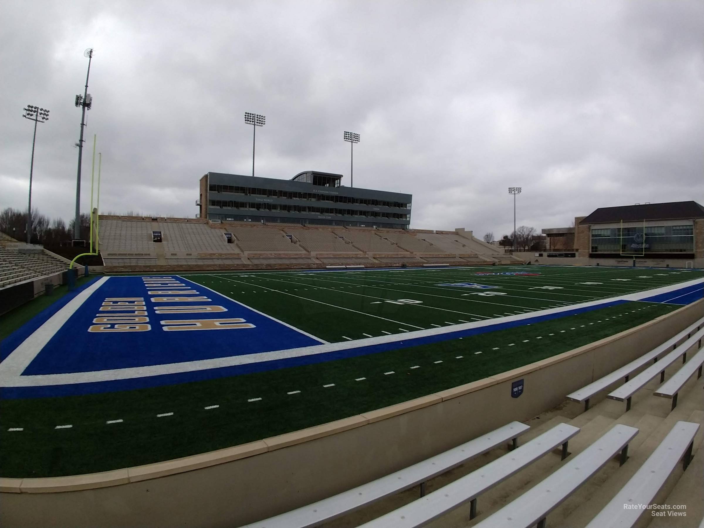 Seat View for H.A. Chapman Stadium Section 108, Row 5