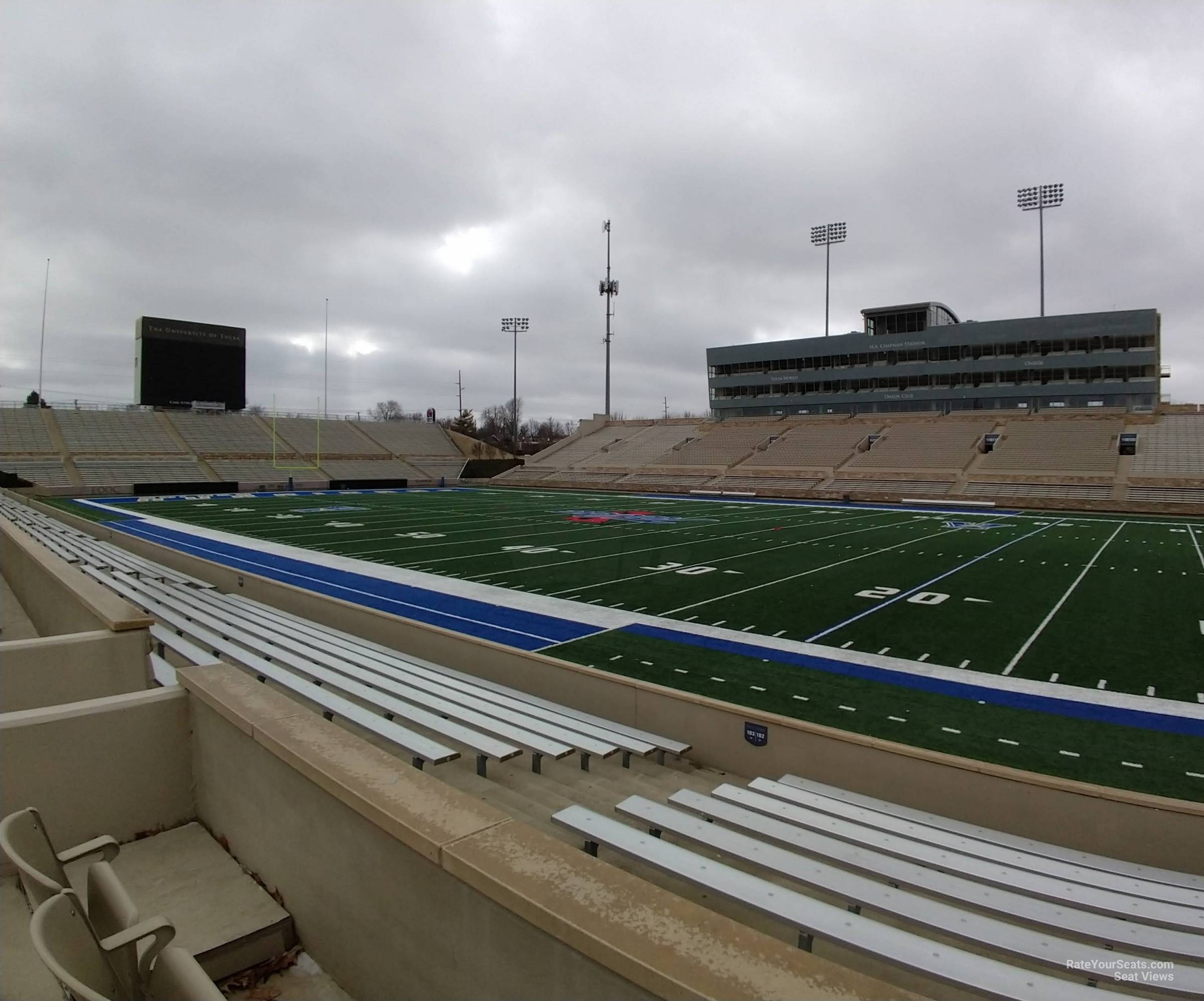 Seat View for H.A. Chapman Stadium Loge 102, Row 9