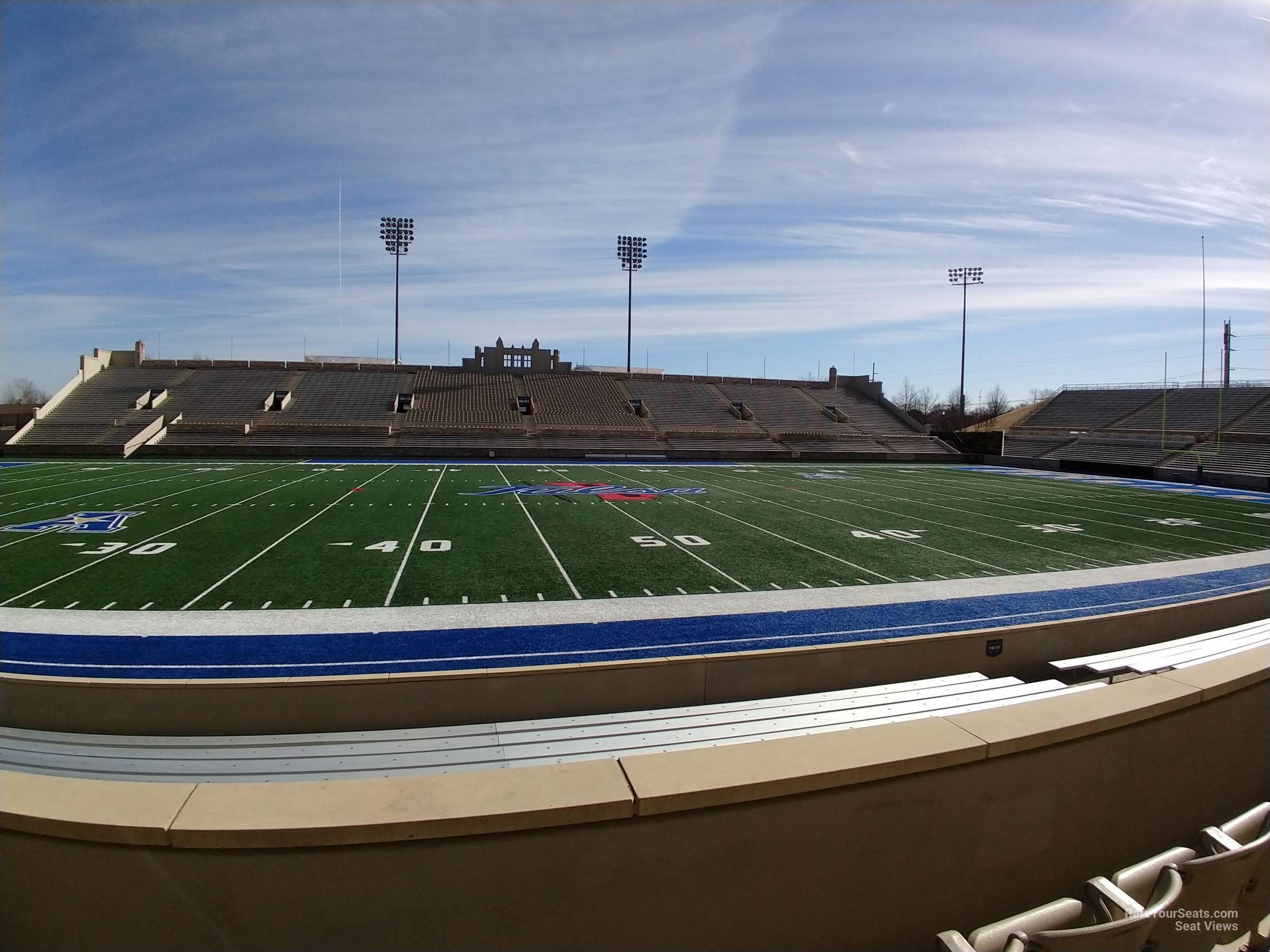 Seat View for H.A. Chapman Stadium Loge 118, Row 9
