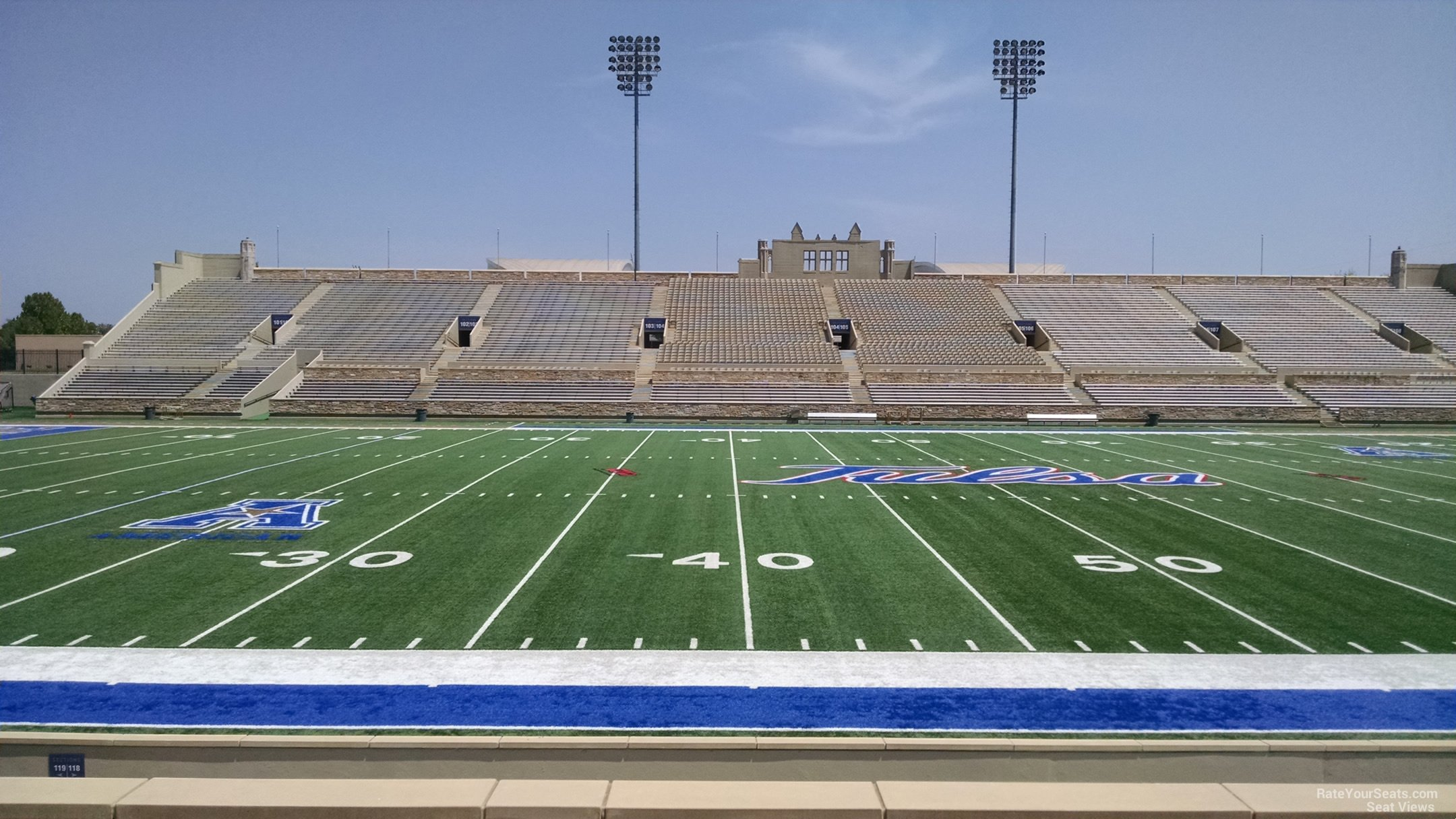 Seat View for H.A. Chapman Stadium Section 118, Row 15