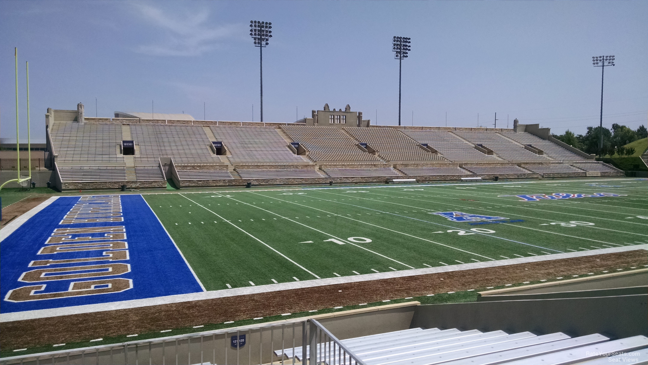 Seat View for H.A. Chapman Stadium Section 121, Row 16