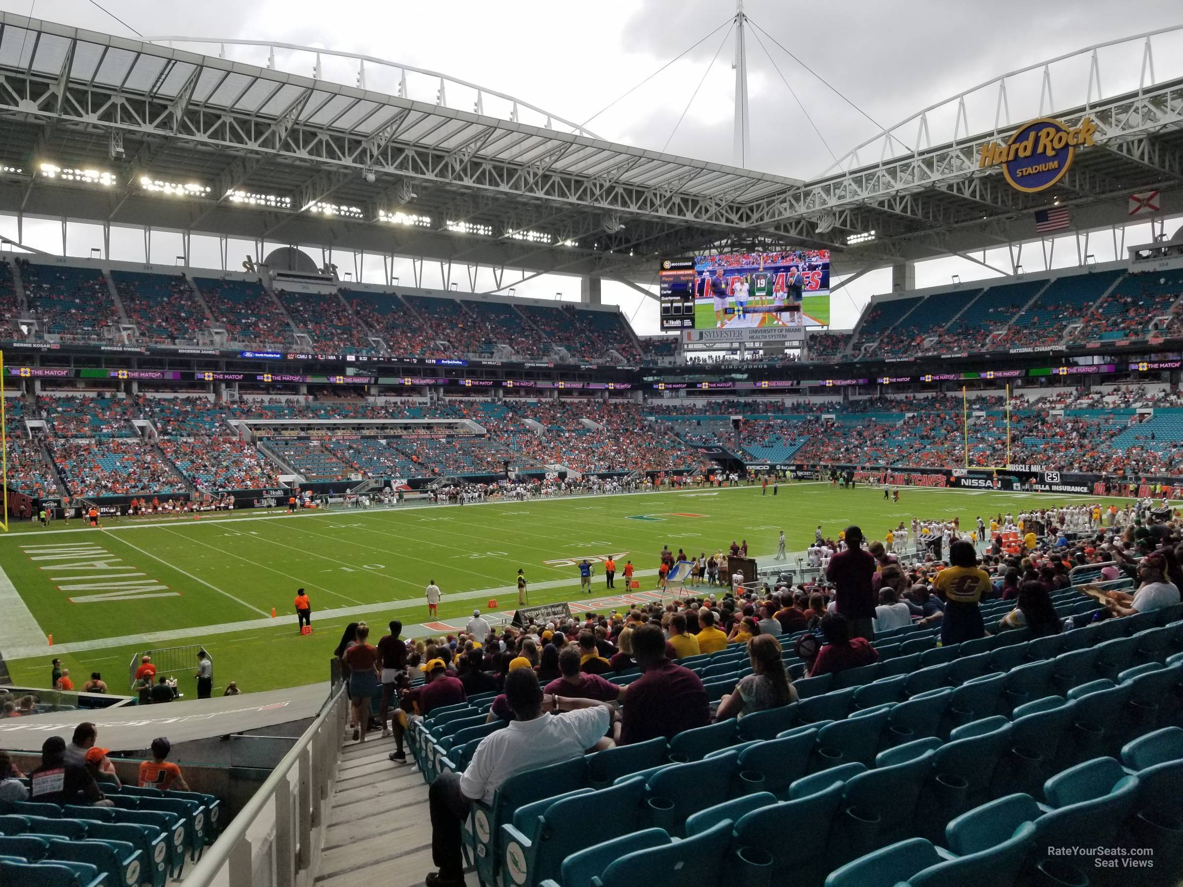 section 122 at hard rock stadium - miami dolphins