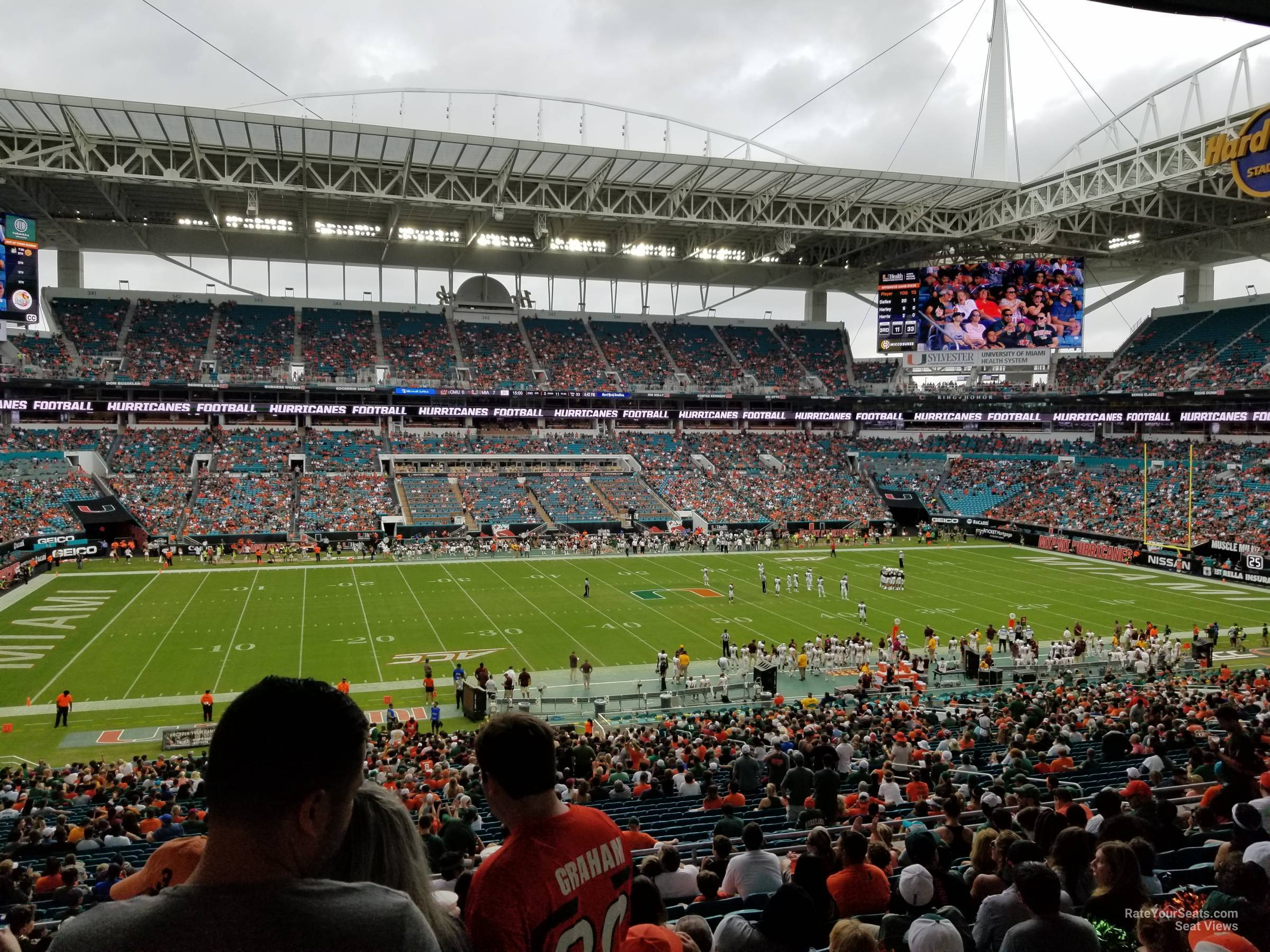 Seat View for Hard Rock Stadium Section 221, Row 10