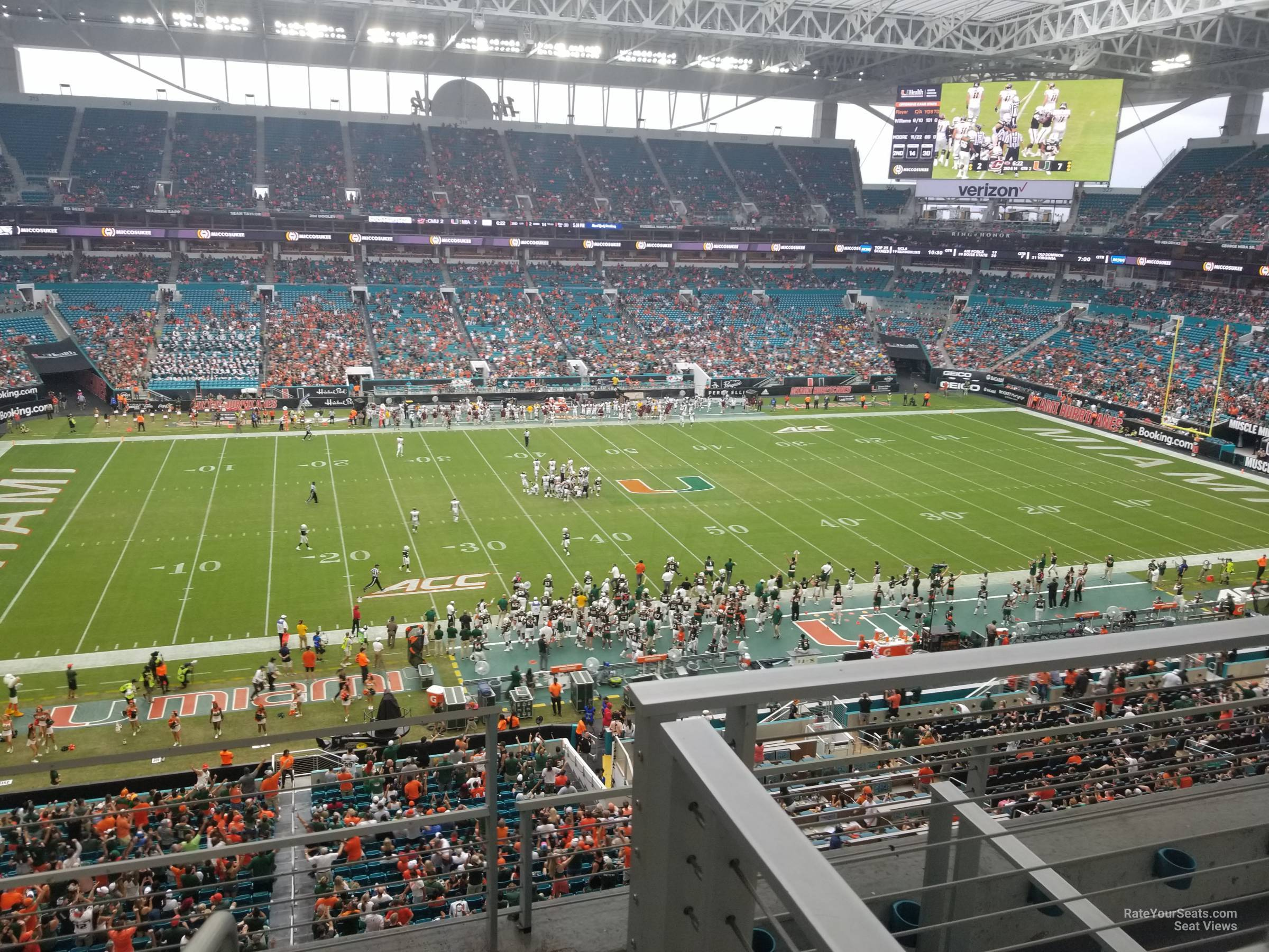 Section 348 seat view