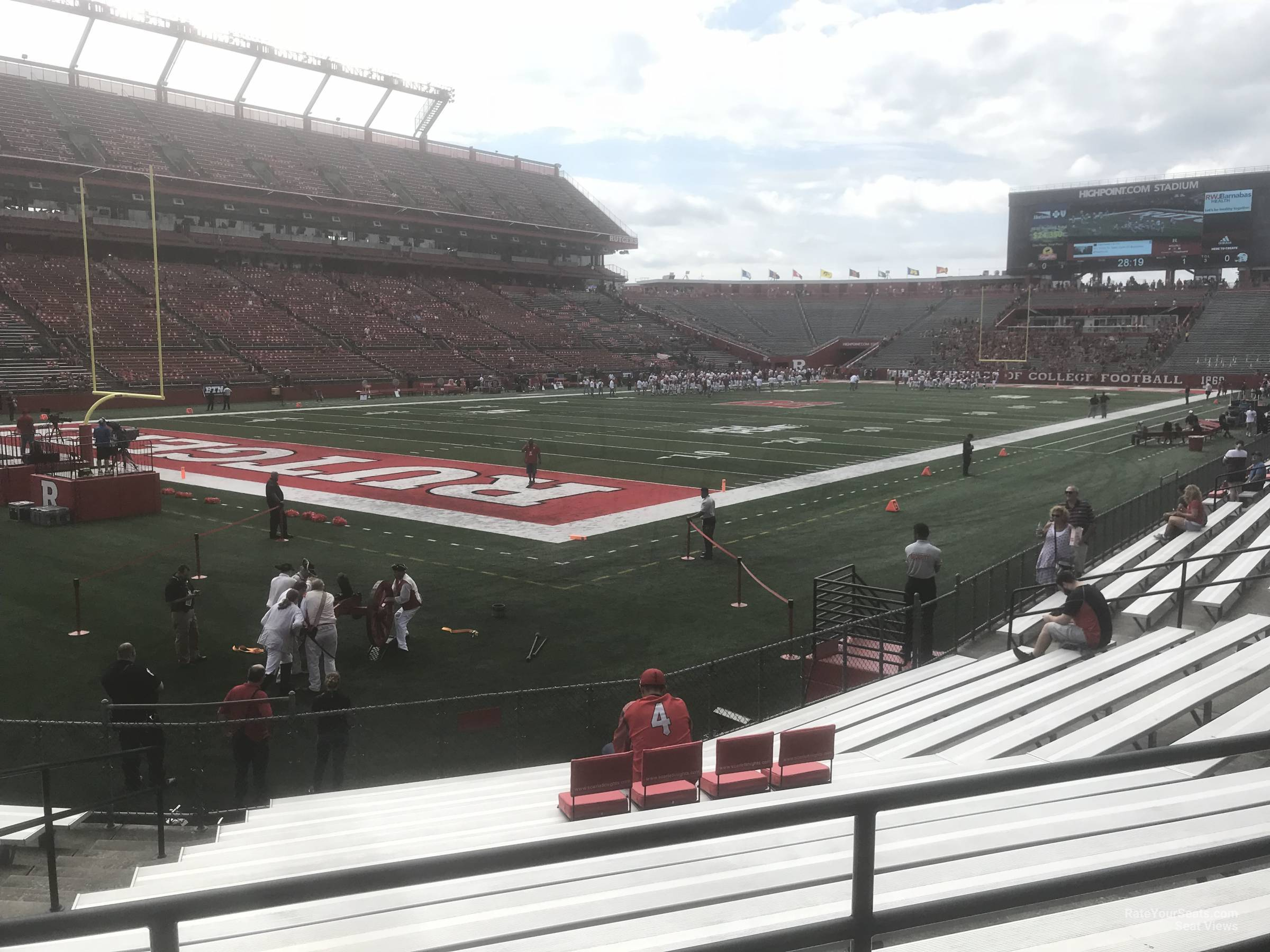 Seat View for High Point Solutions Stadium Section 110, Row 11