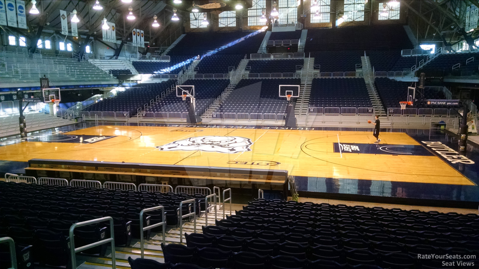 Seat View for Hinkle Fieldhouse Section 105, Row 15