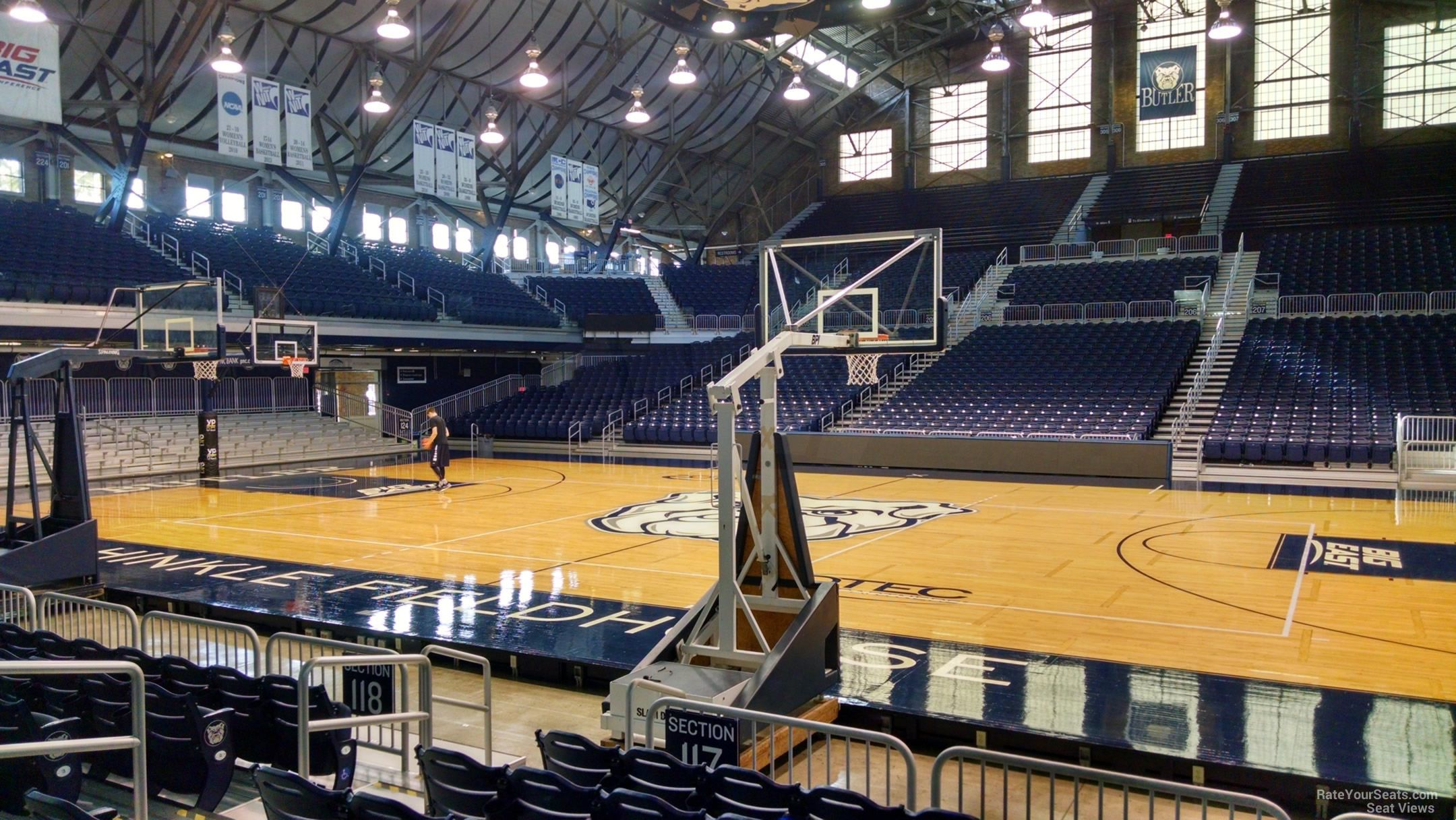 Hinkle Fieldhouse Section 117 - RateYourSeats.com