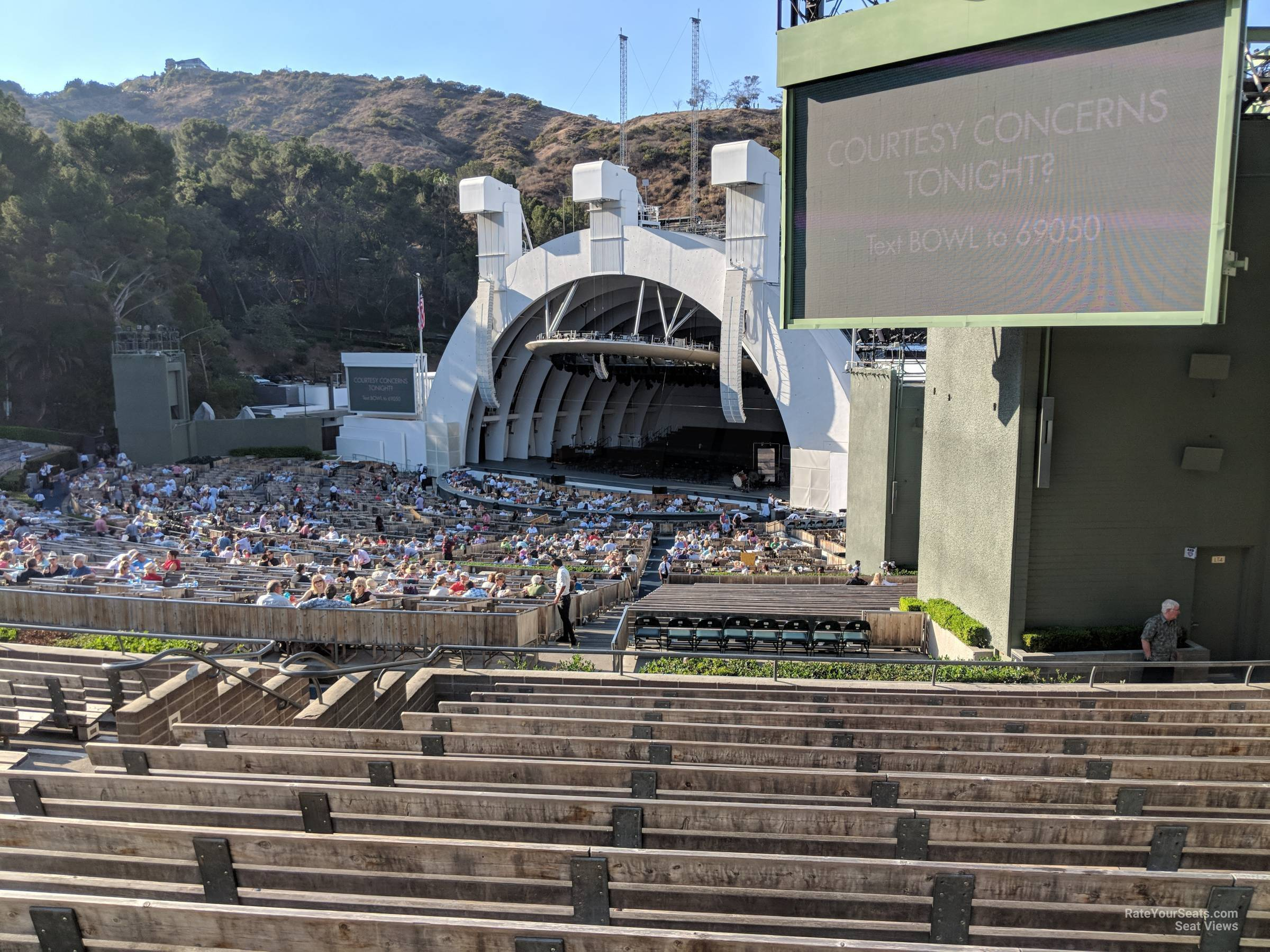 Concert Seat View for Hollywood Bowl Section F3, Row 13