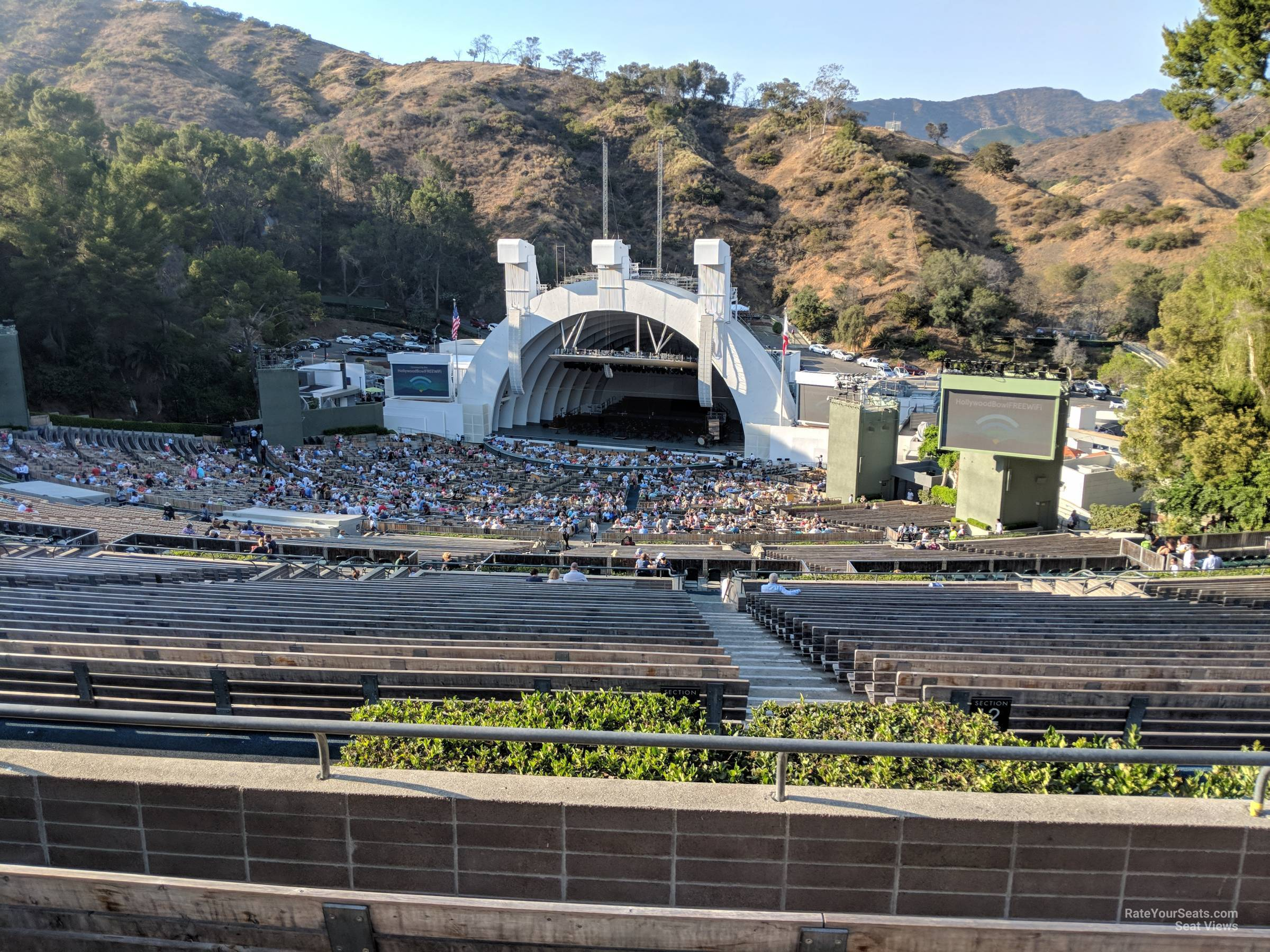 Concert Seat View for Hollywood Bowl Section Q2, Row 5