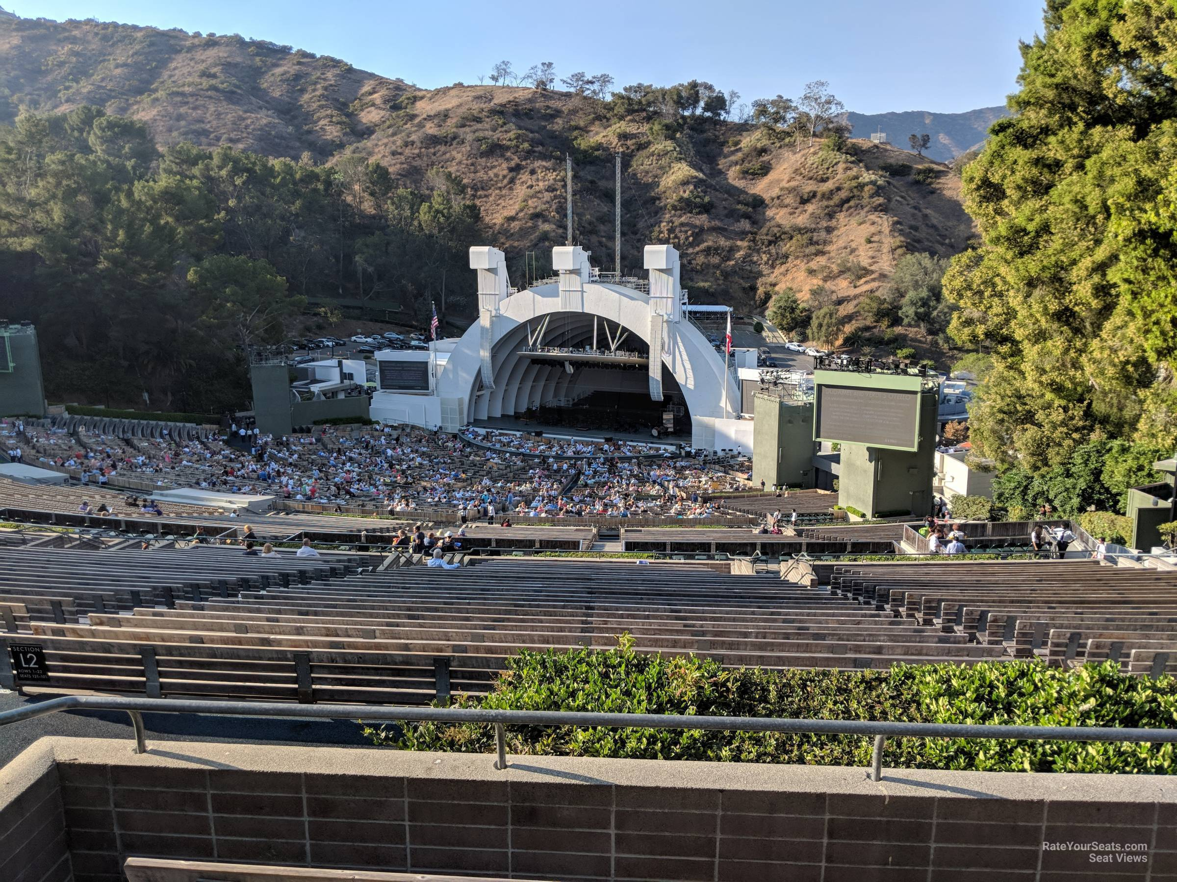Concert Seat View for Hollywood Bowl Section Q3, Row 5