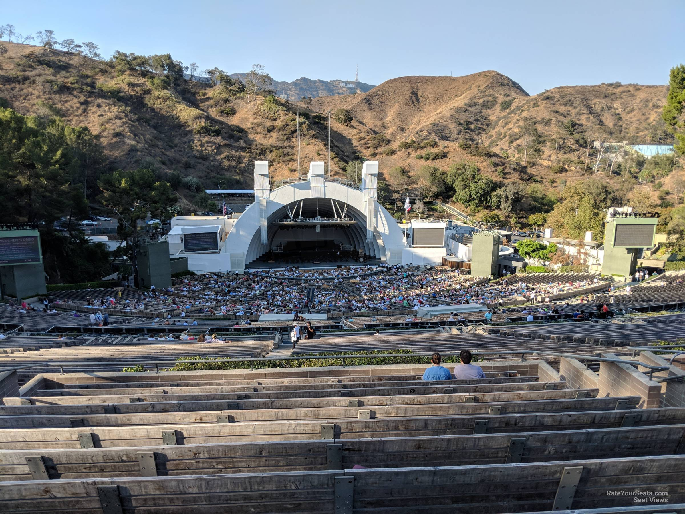 Concert Seat View for Hollywood Bowl Section T1, Row 13