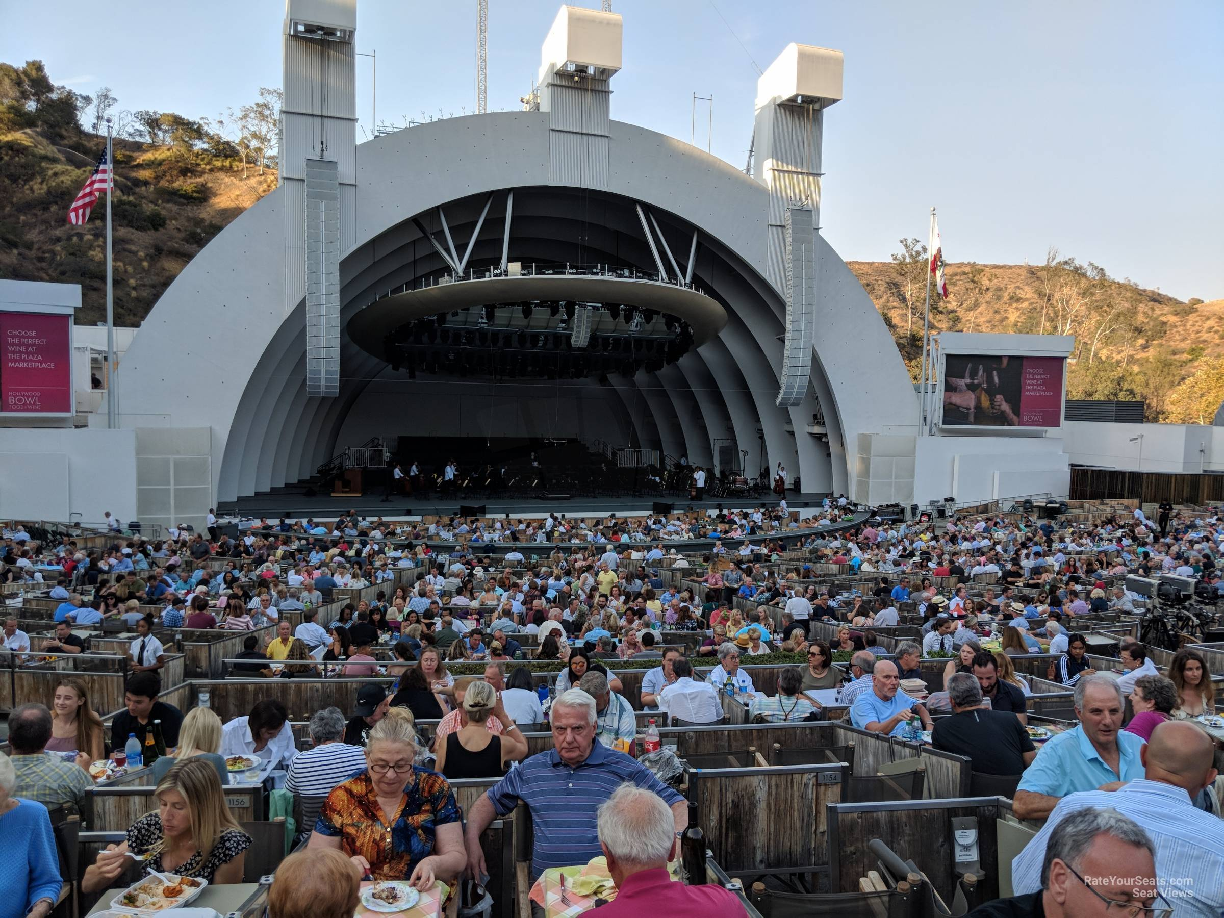 Hollywood Bowl Concerts >> Hollywood Bowl Terrace 5 Rateyourseats Com