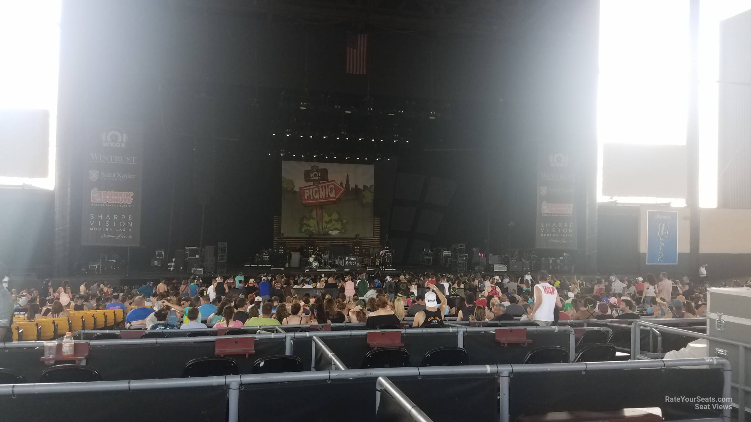 Concert Seat View for Hollywood Casino Amphitheatre VIP Box Seats