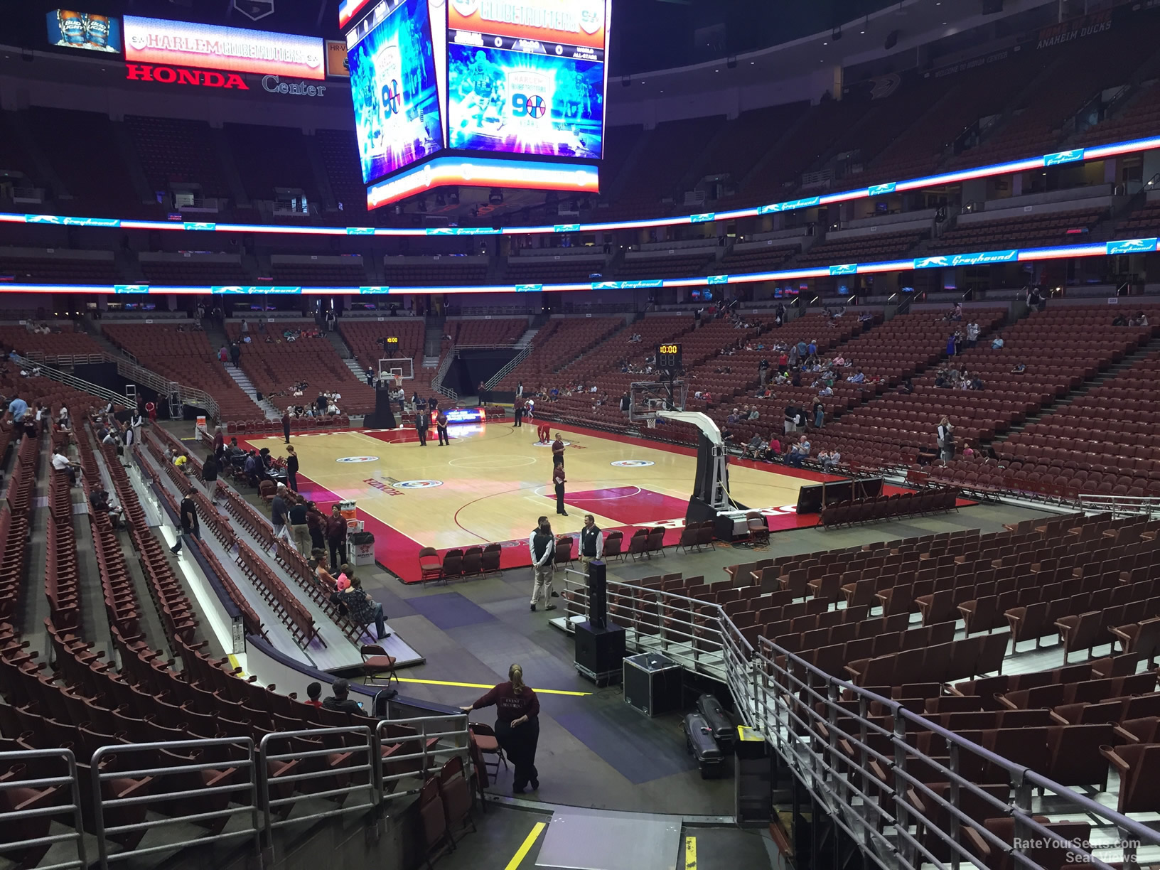 Basketball Seat View For Honda Center Section 203, Row P