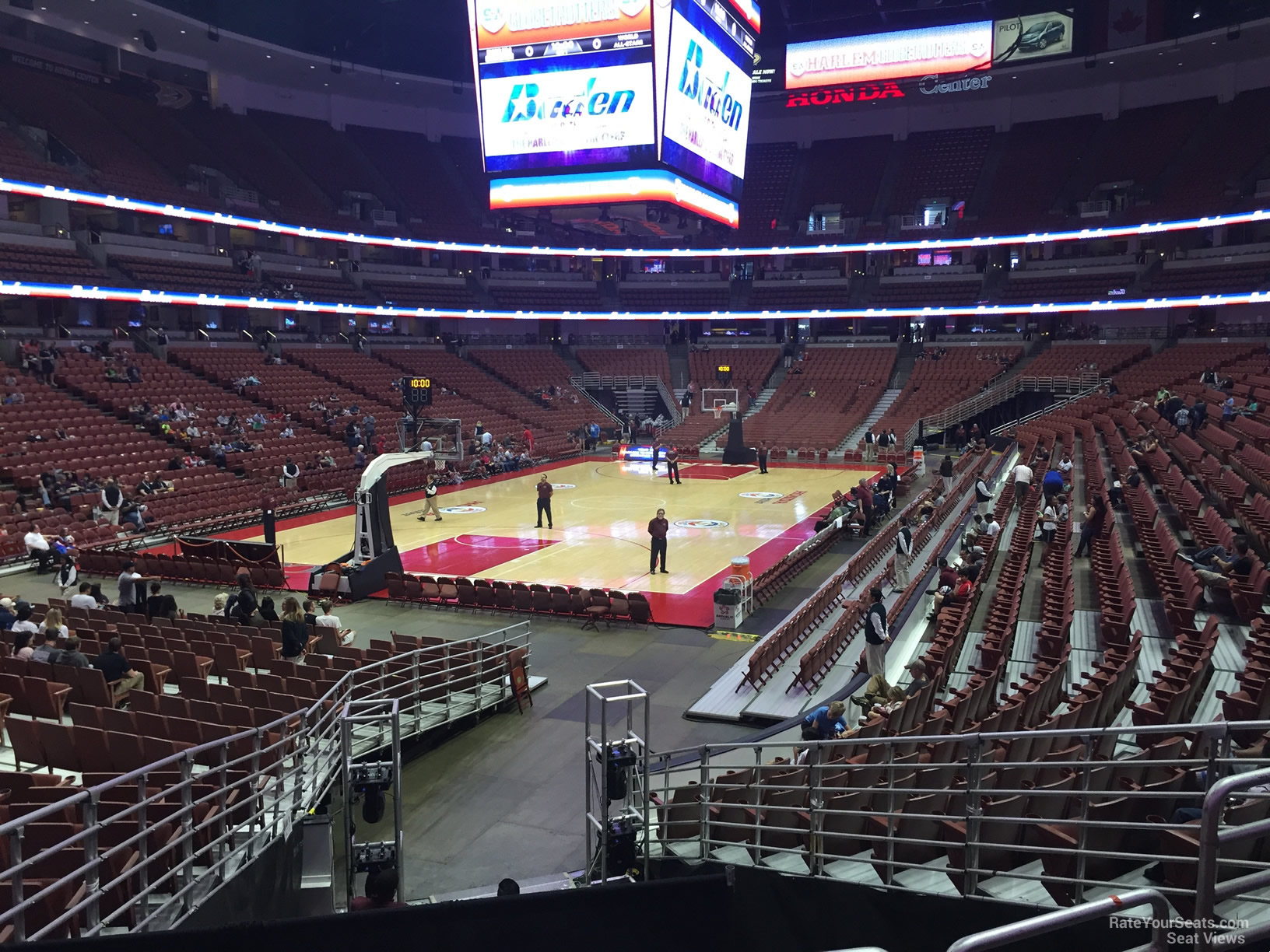 Basketball Seat View For Honda Center Section 213, Row P