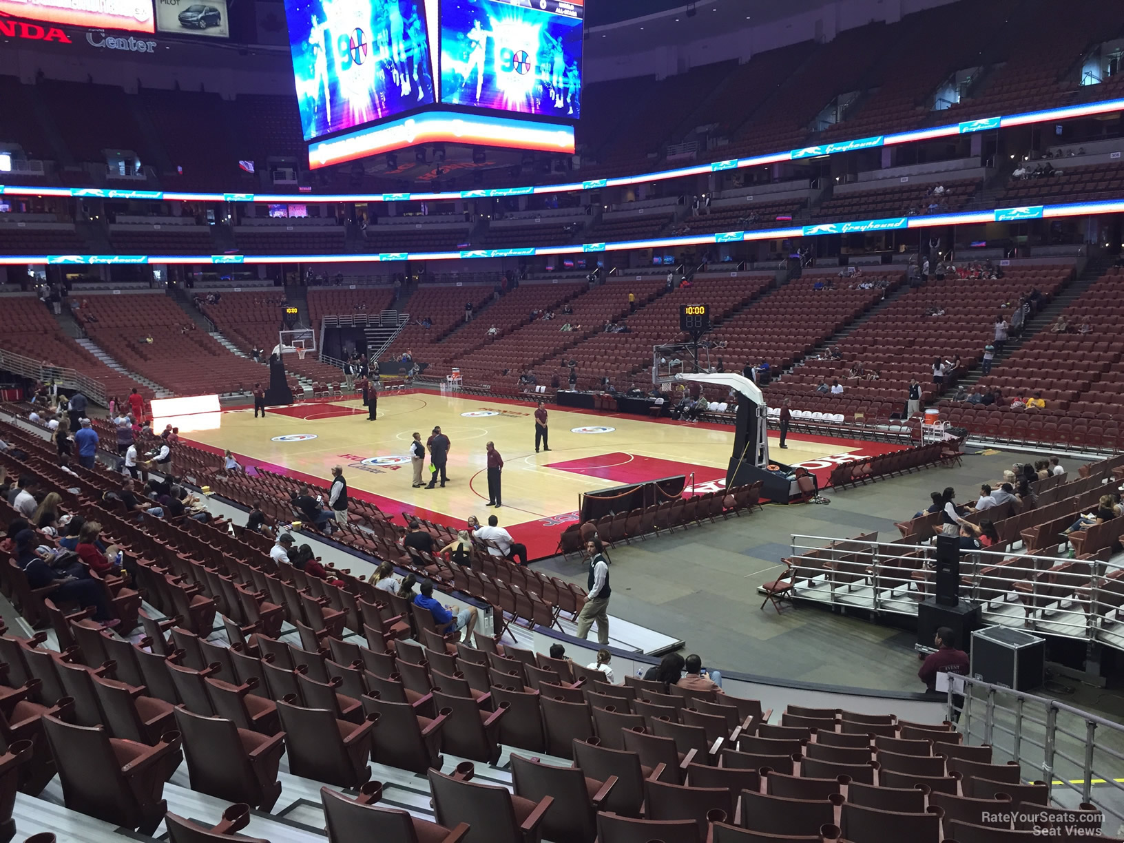 Basketball Seat View For Honda Center Section 218, Row P