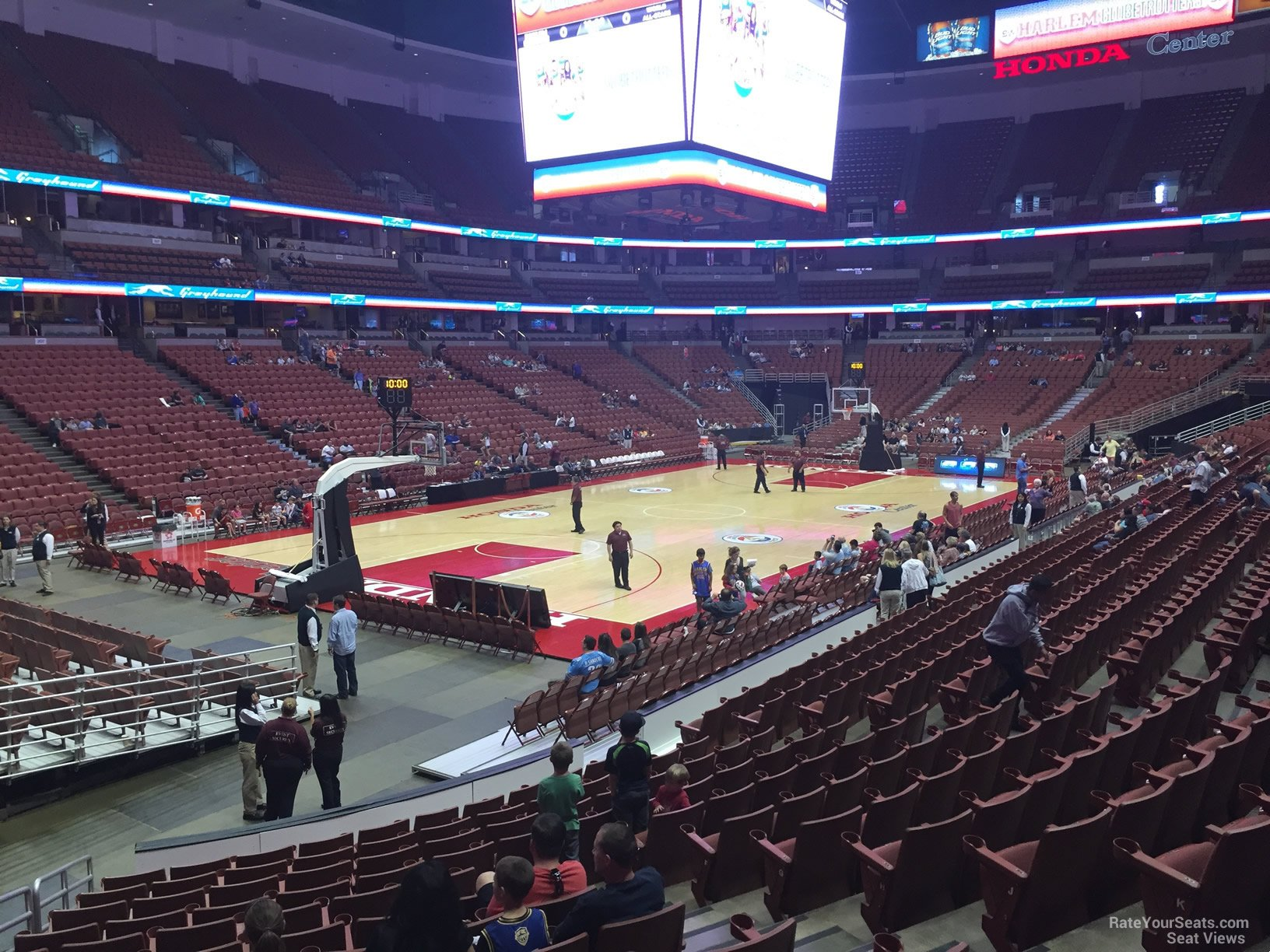 Basketball Seat View For Honda Center Section 226, Row P