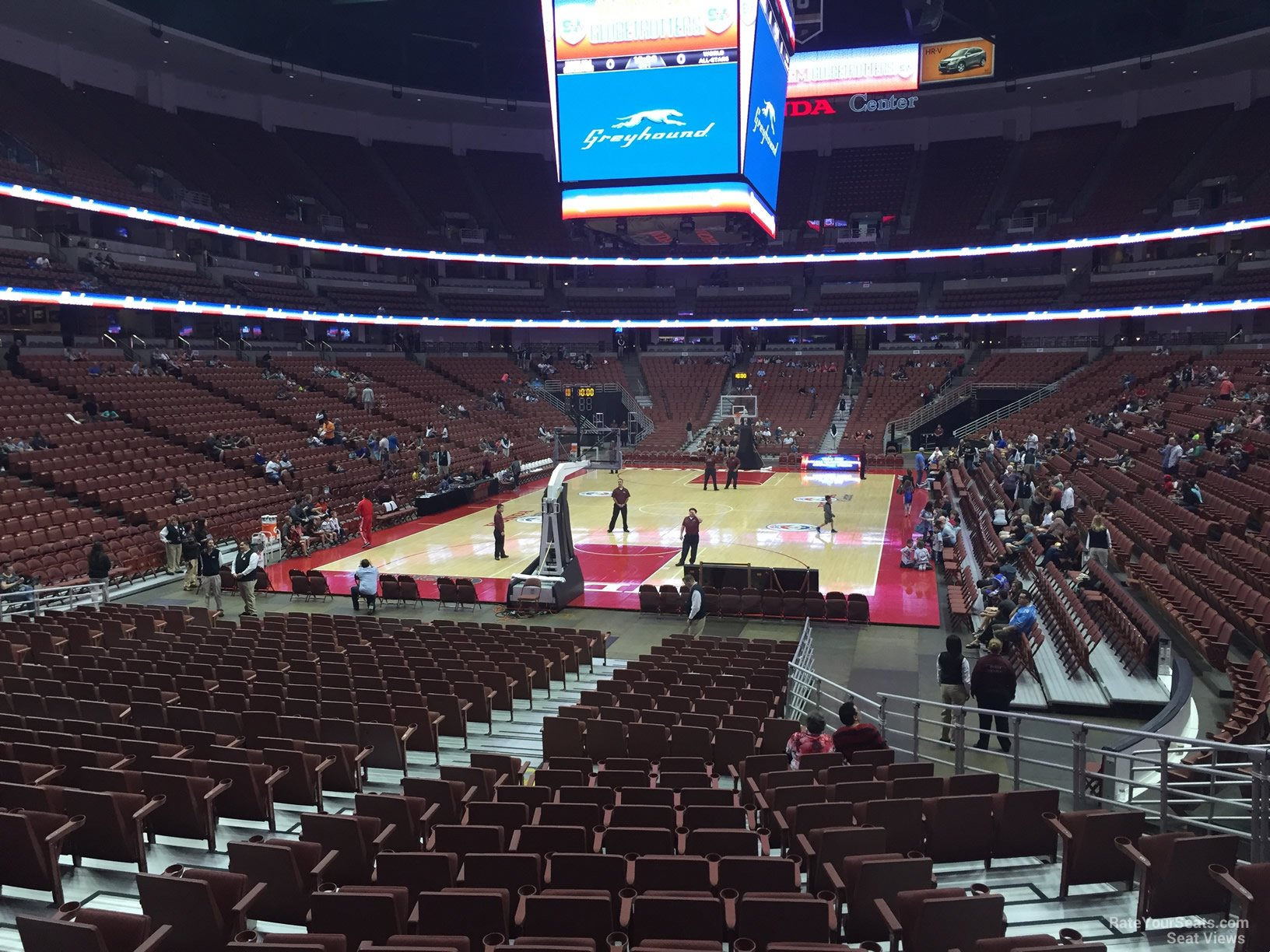 Basketball Seat View For Honda Center Section 228, Row P