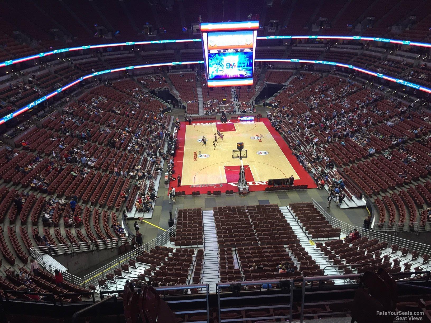 Basketball Seat View For Honda Center Section 401, Row E