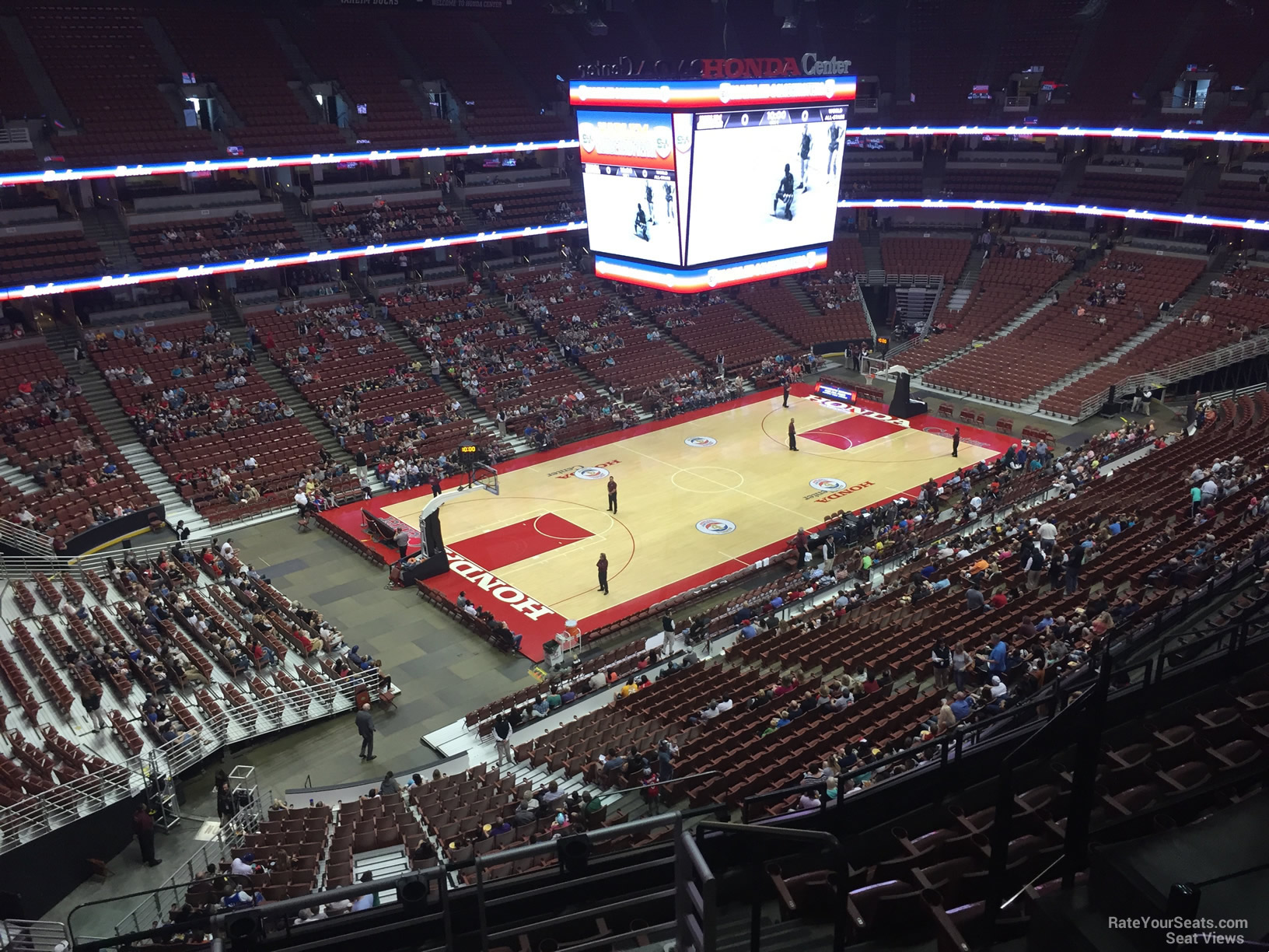 Basketball Seat View For Honda Center Section 416, Row E