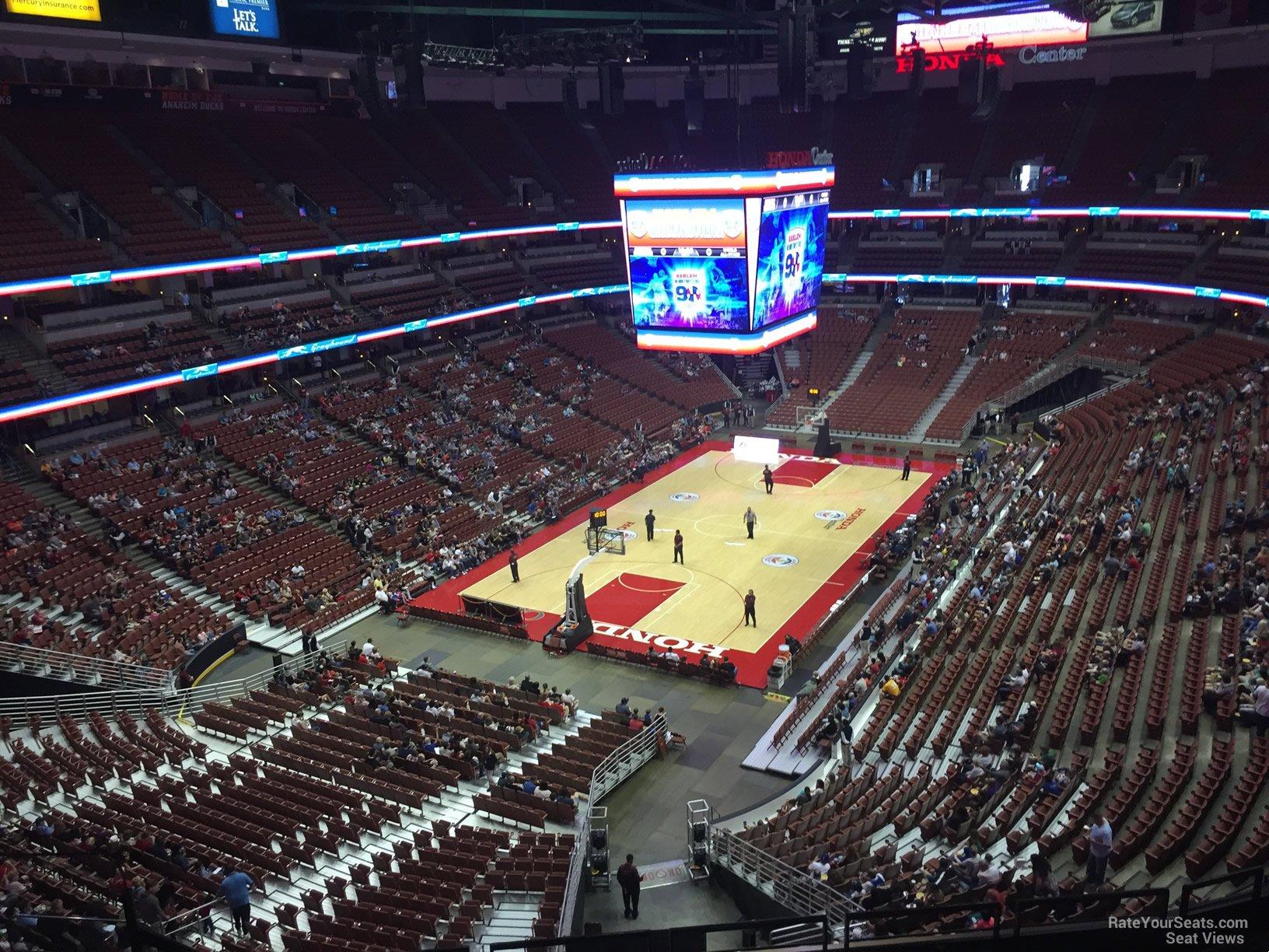 Basketball Seat View for Honda Center Section 419 Row E