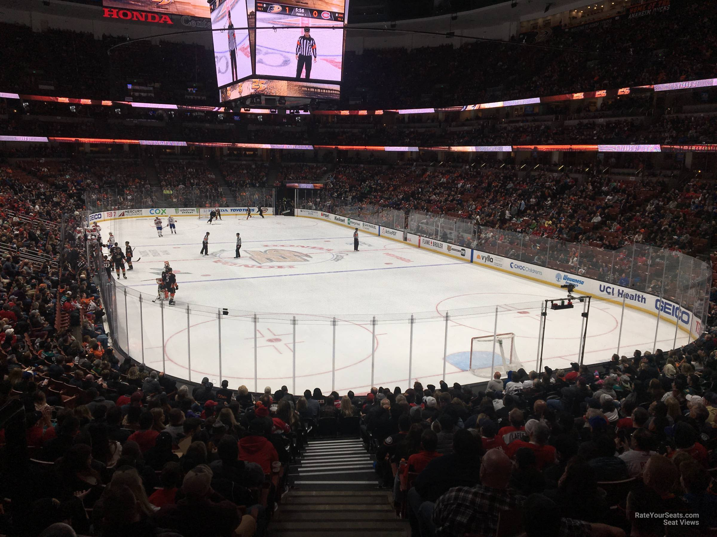 Honda Center Section 203 - Anaheim Ducks - RateYourSeats.com