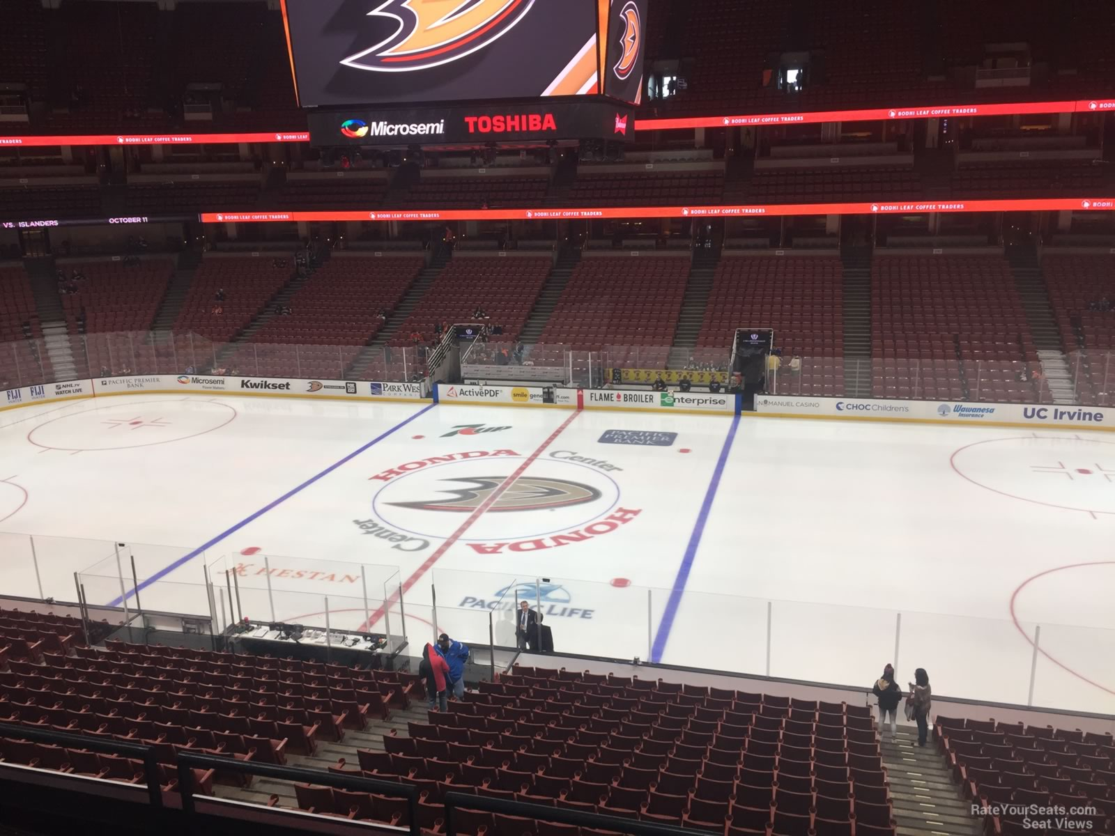 Anaheim Ducks Seat View for Honda Center Section 319, Row C