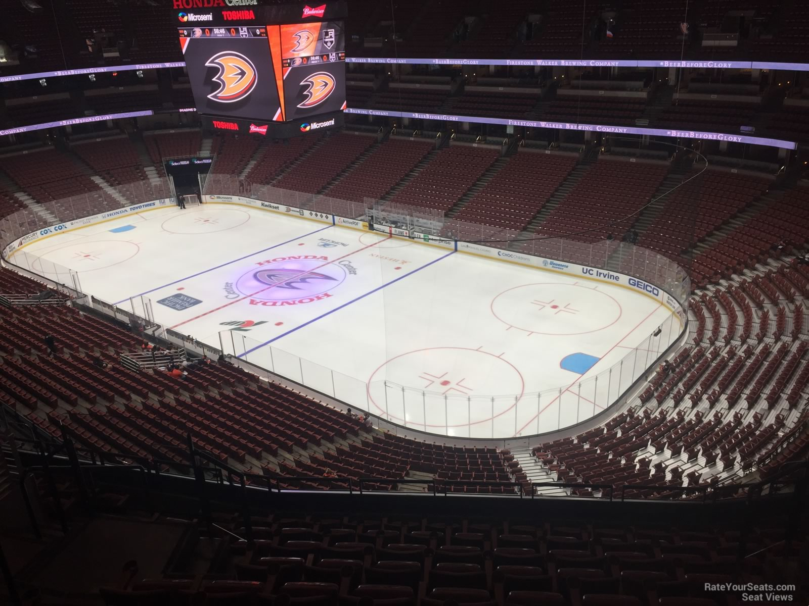 Honda Center Section 406 Anaheim Ducks Rateyourseats Com