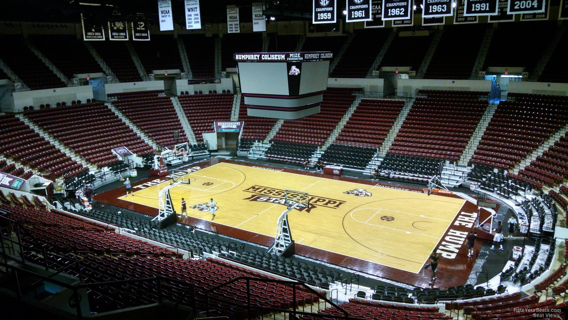 Seat View for Humphrey Coliseum Section 207, Row 8