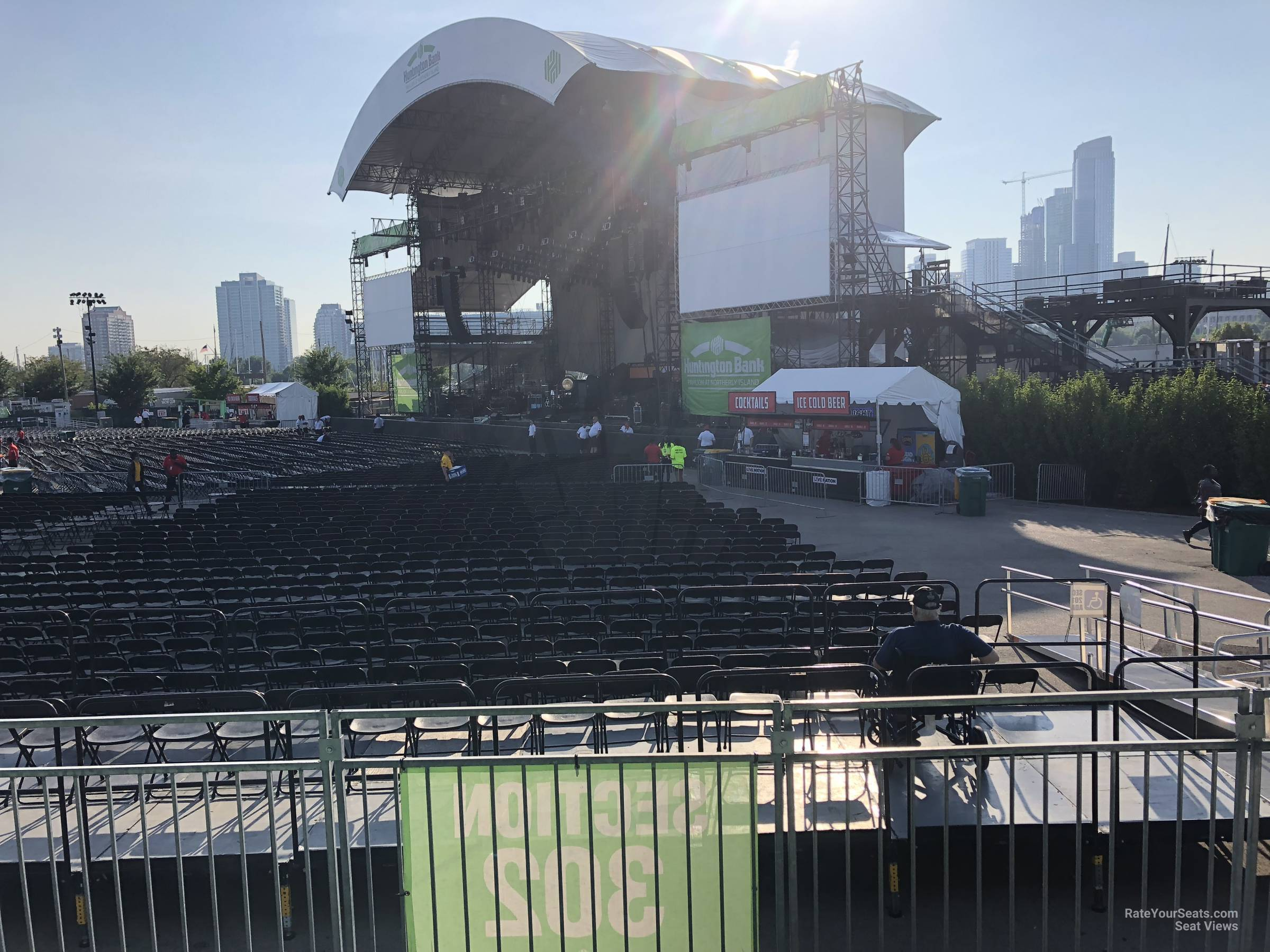 Concert Seat View for Huntington Bank Pavilion Section 302, Row C
