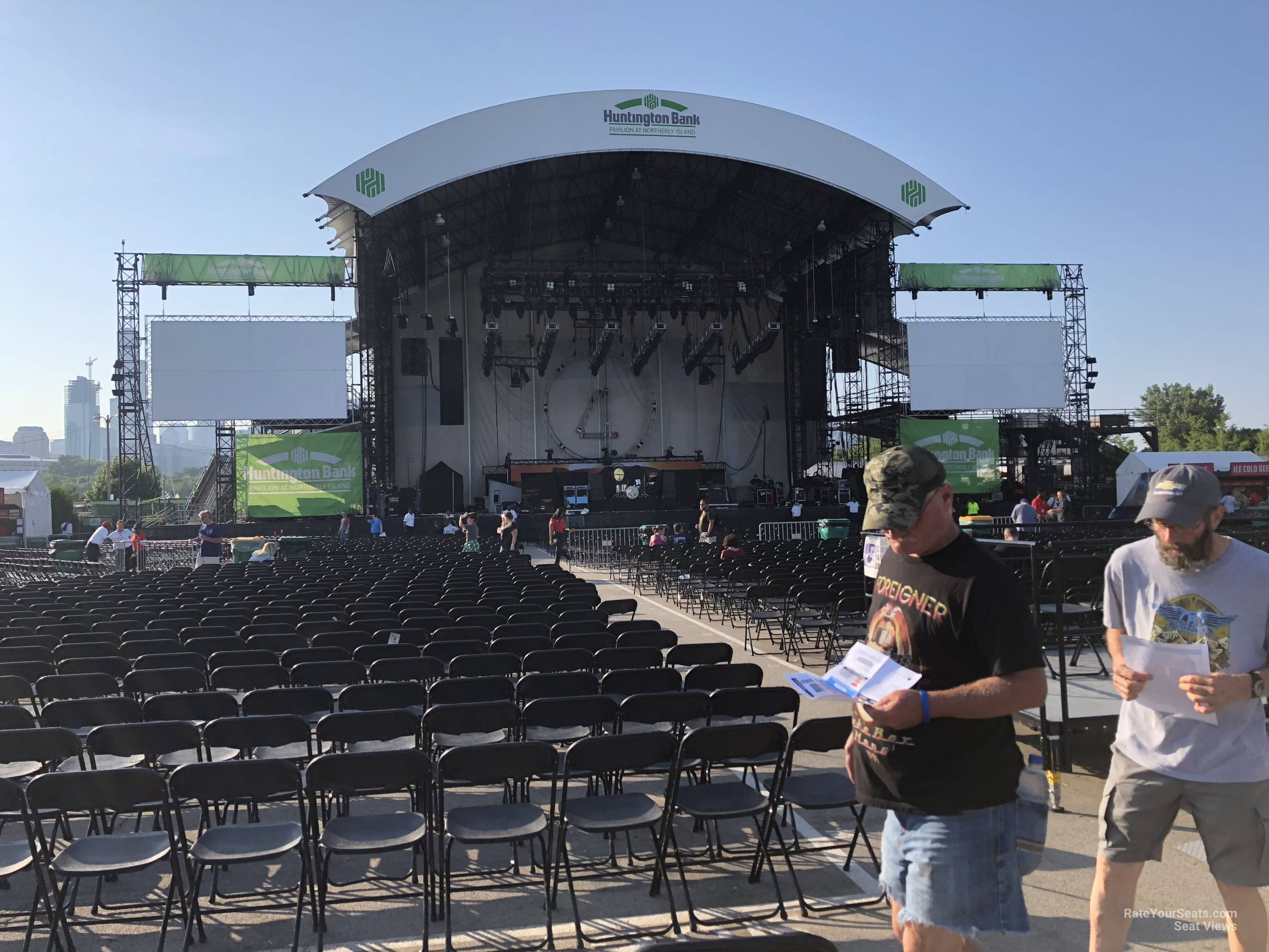 Concert Seat View for Huntington Bank Pavilion Section 308, Row D