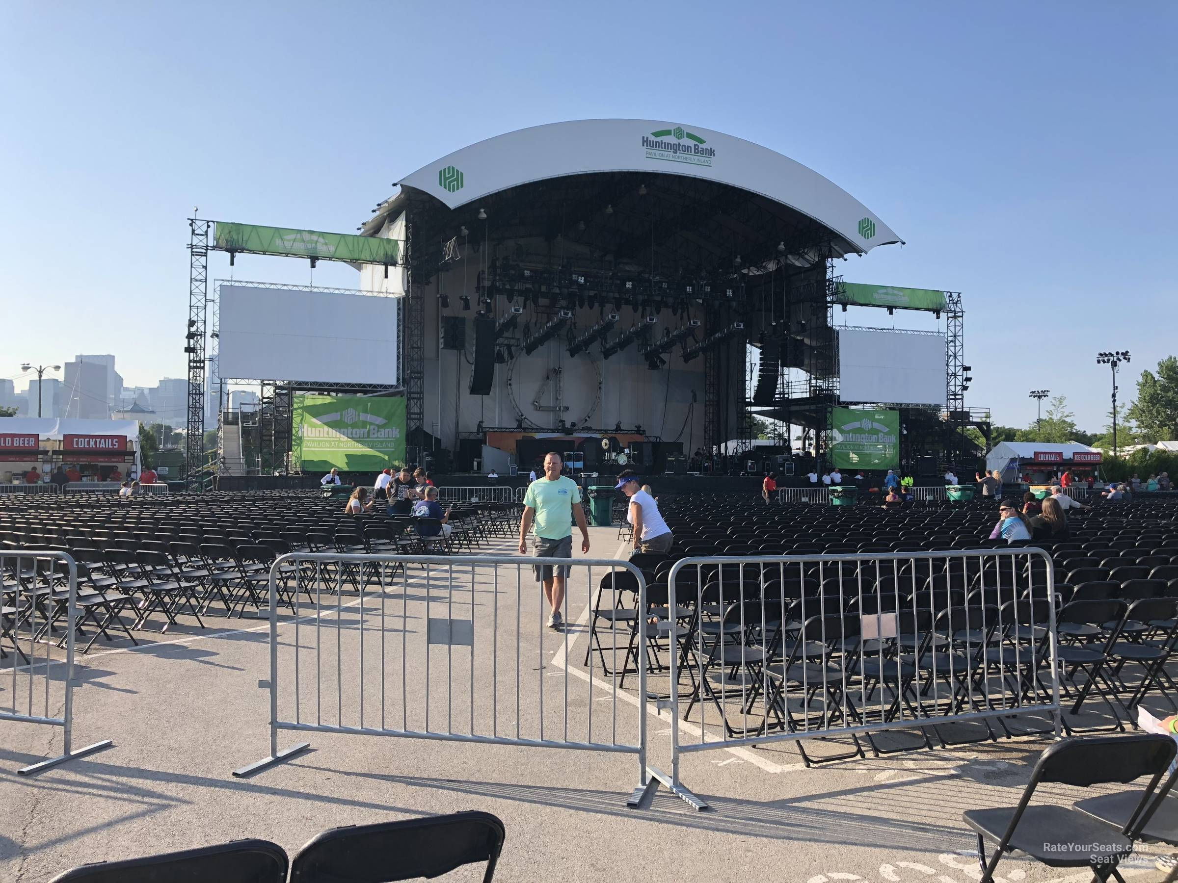 Concert Seat View For Huntington Bank Pavilion Section 309