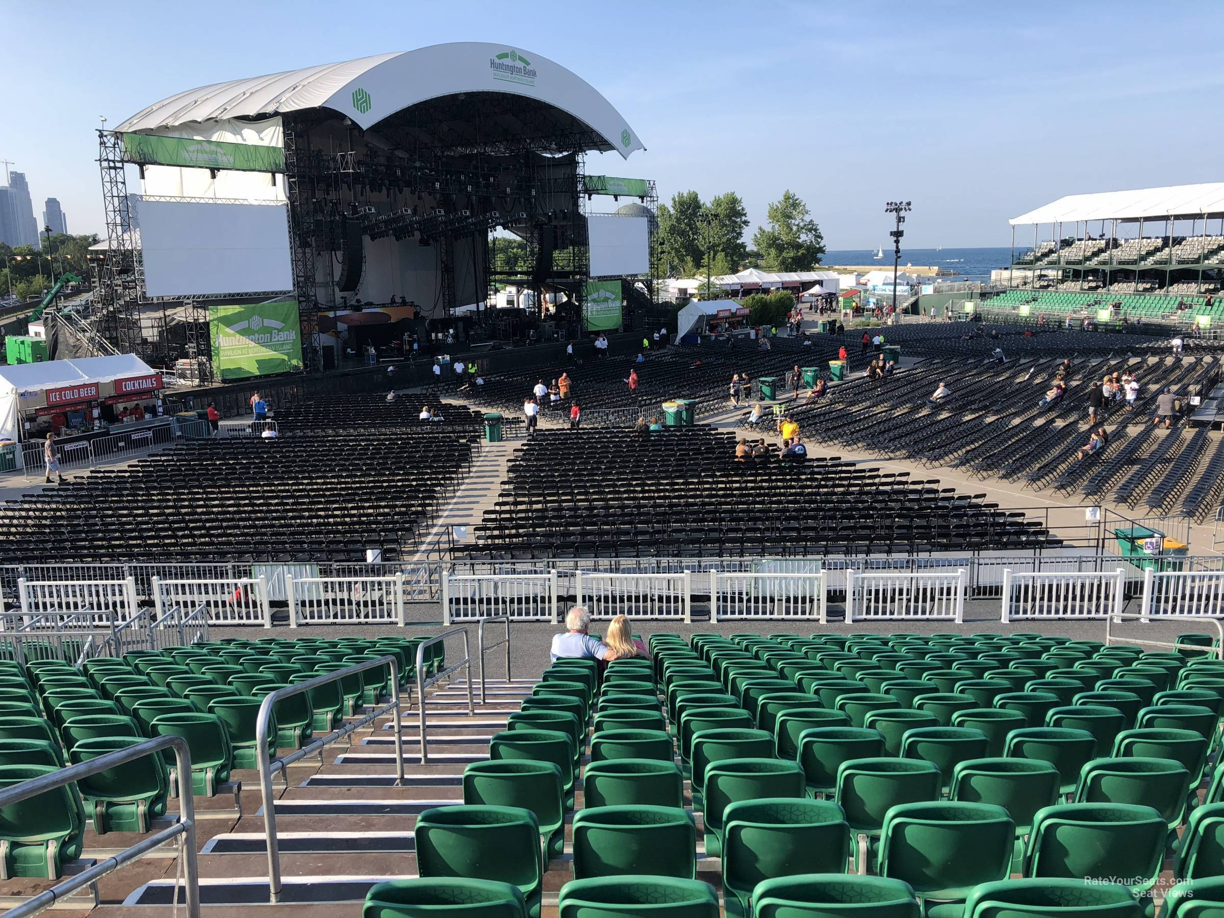 Concert Seat View for Huntington Bank Pavilion Section 311, Row T
