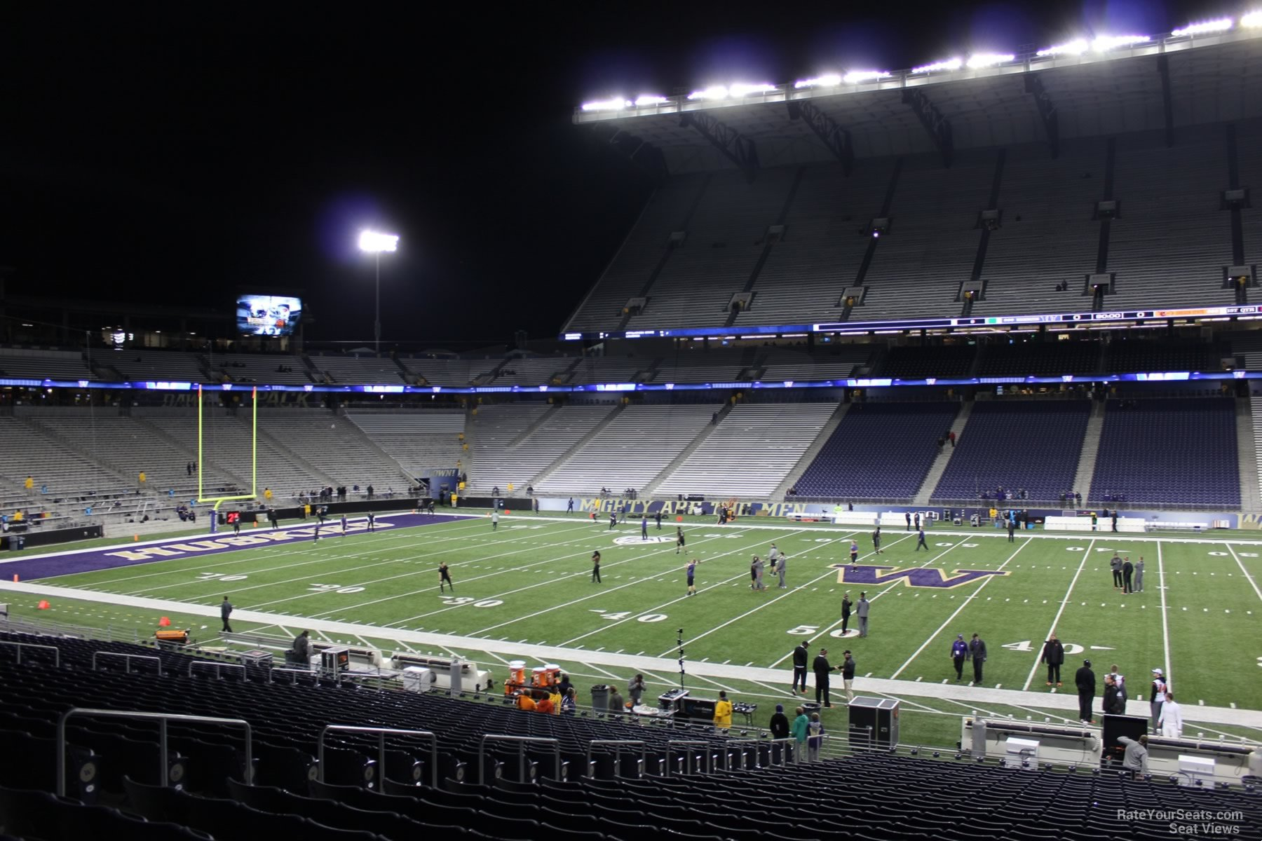 Seat View from Section 105 Row 30 at Husky Stadium