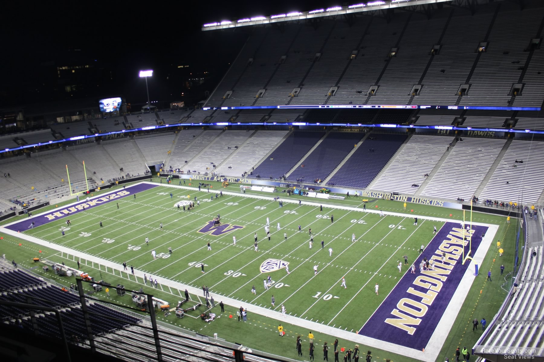 View From Section 301 Row 30 at Husky Stadium