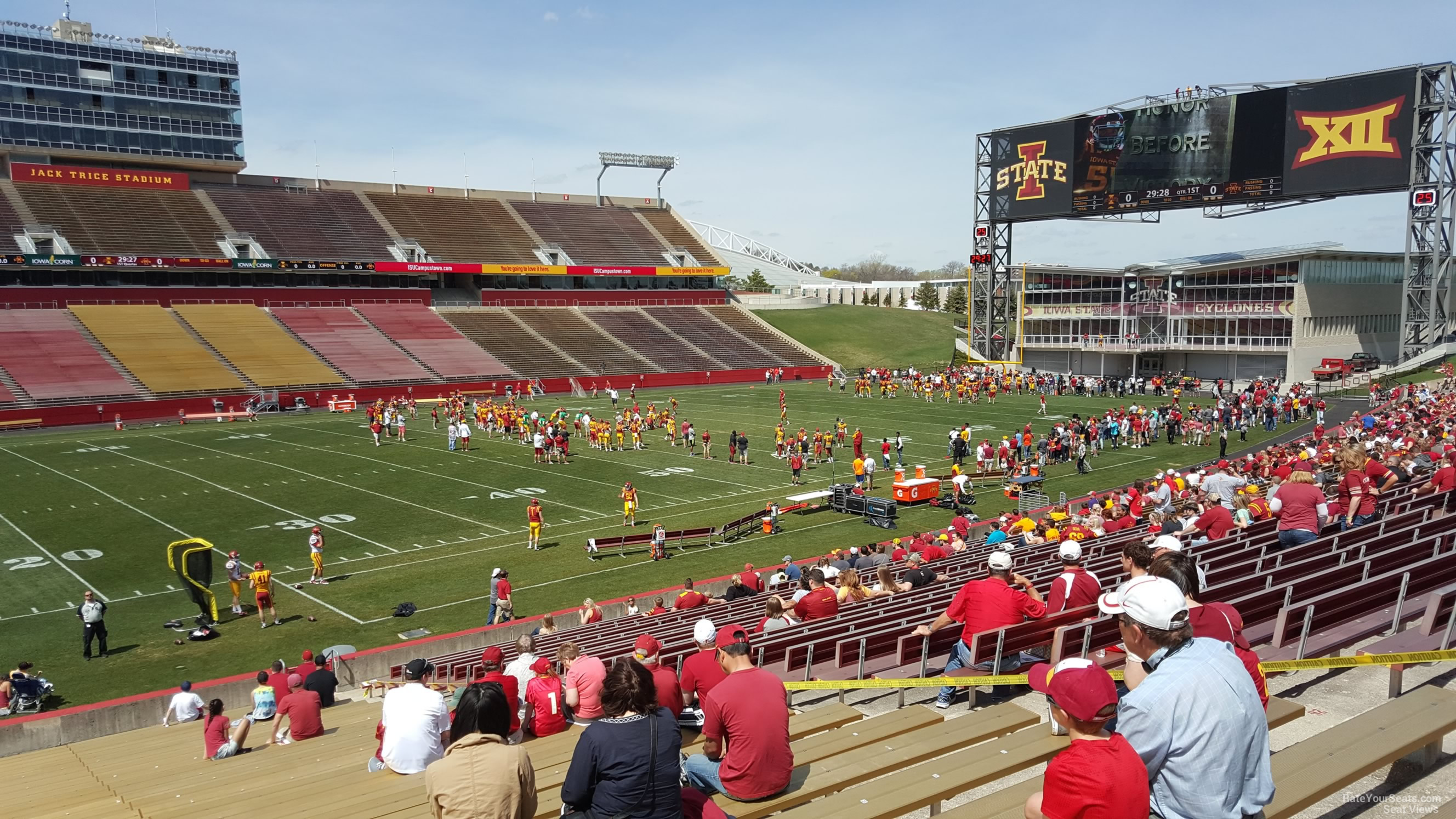 Seat View For Jack Trice Stadium Section 30 Row