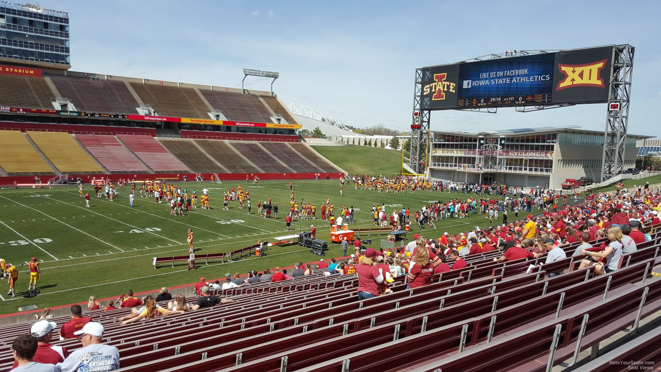 Seat View for Jack Trice Stadium Section 31, Row 30