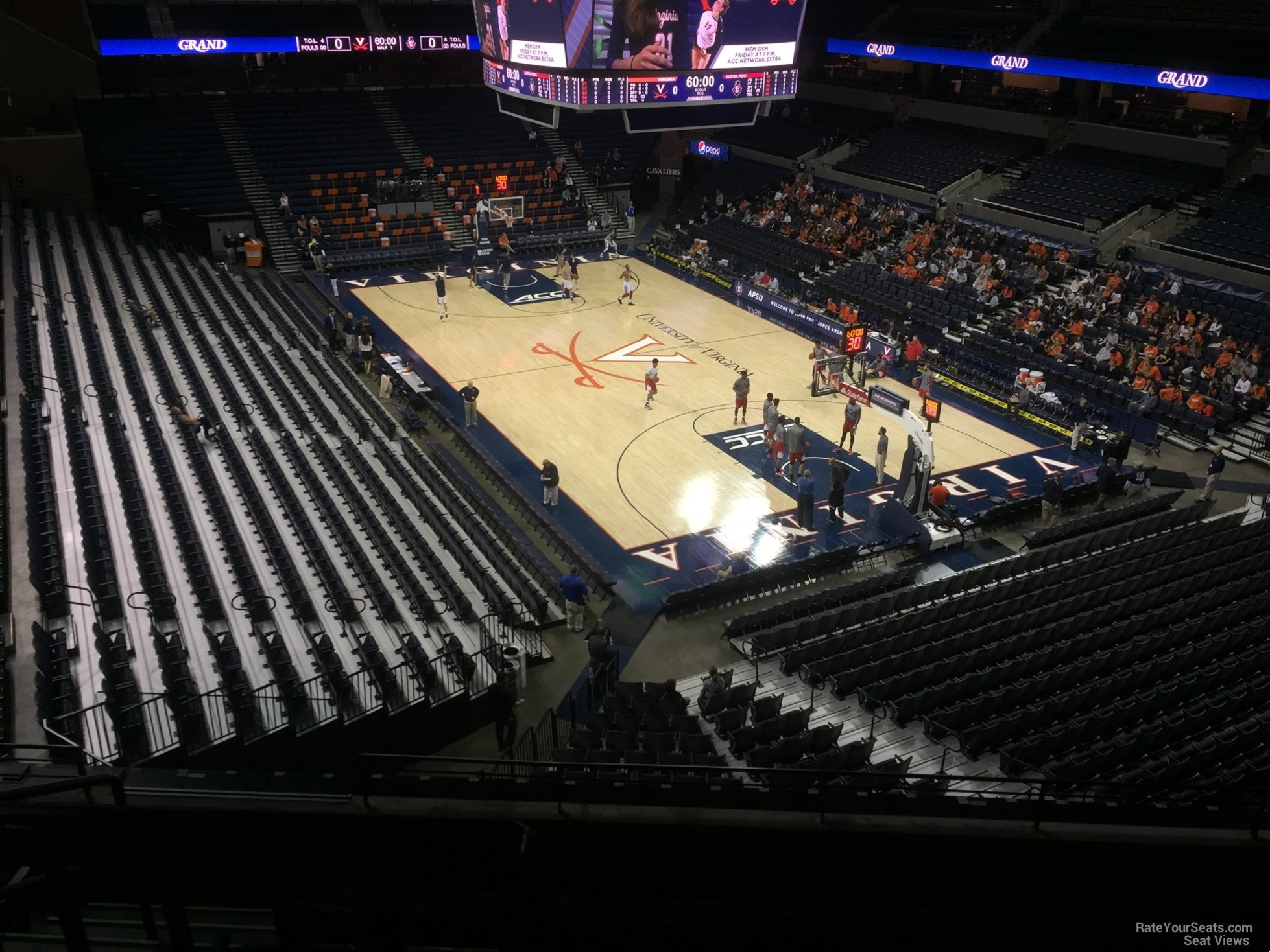Seat View For John Paul Jones Arena Section 310
