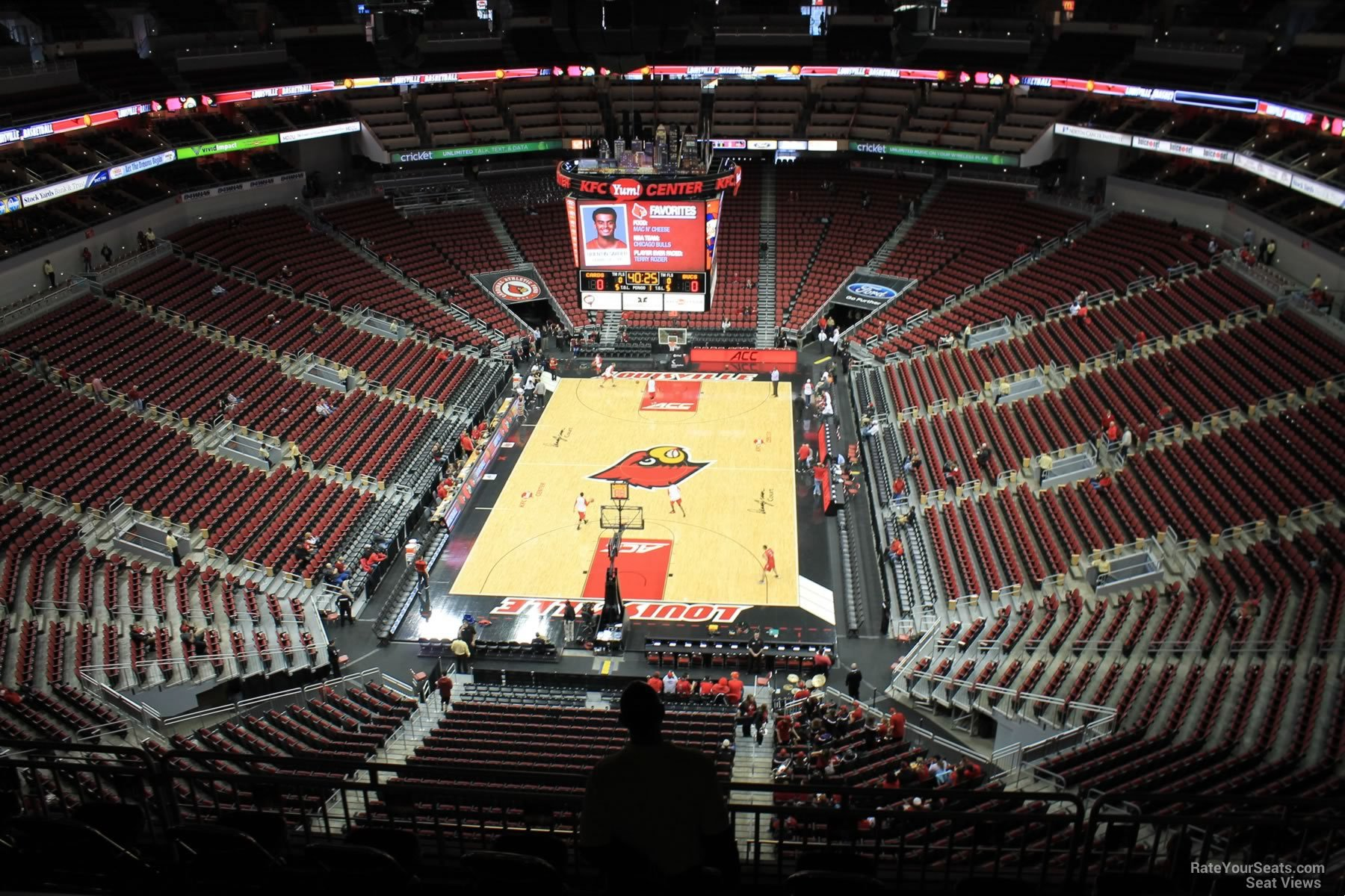 View from Section 315 at KFC Yum! Center