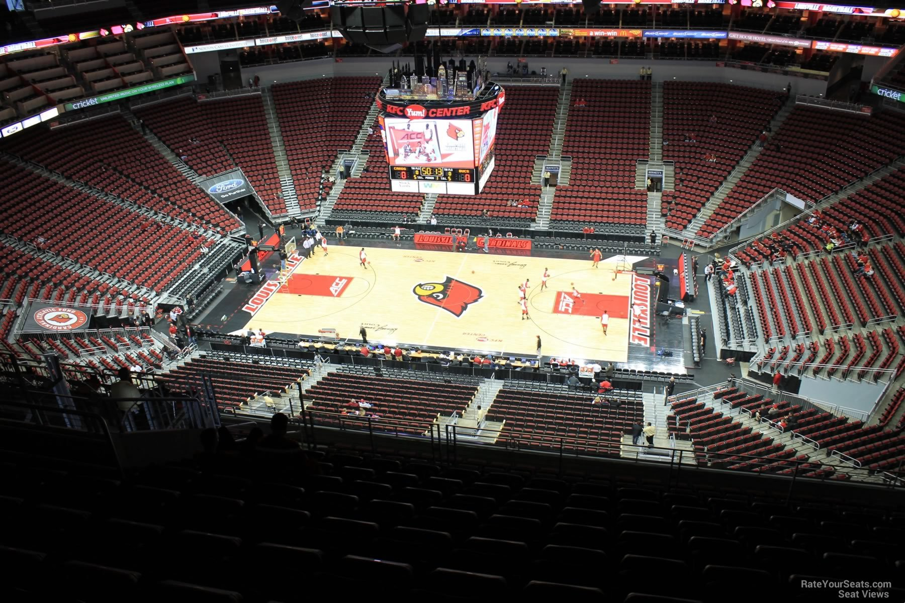 Seat View for KFC Yum! Center Section 322, Row R