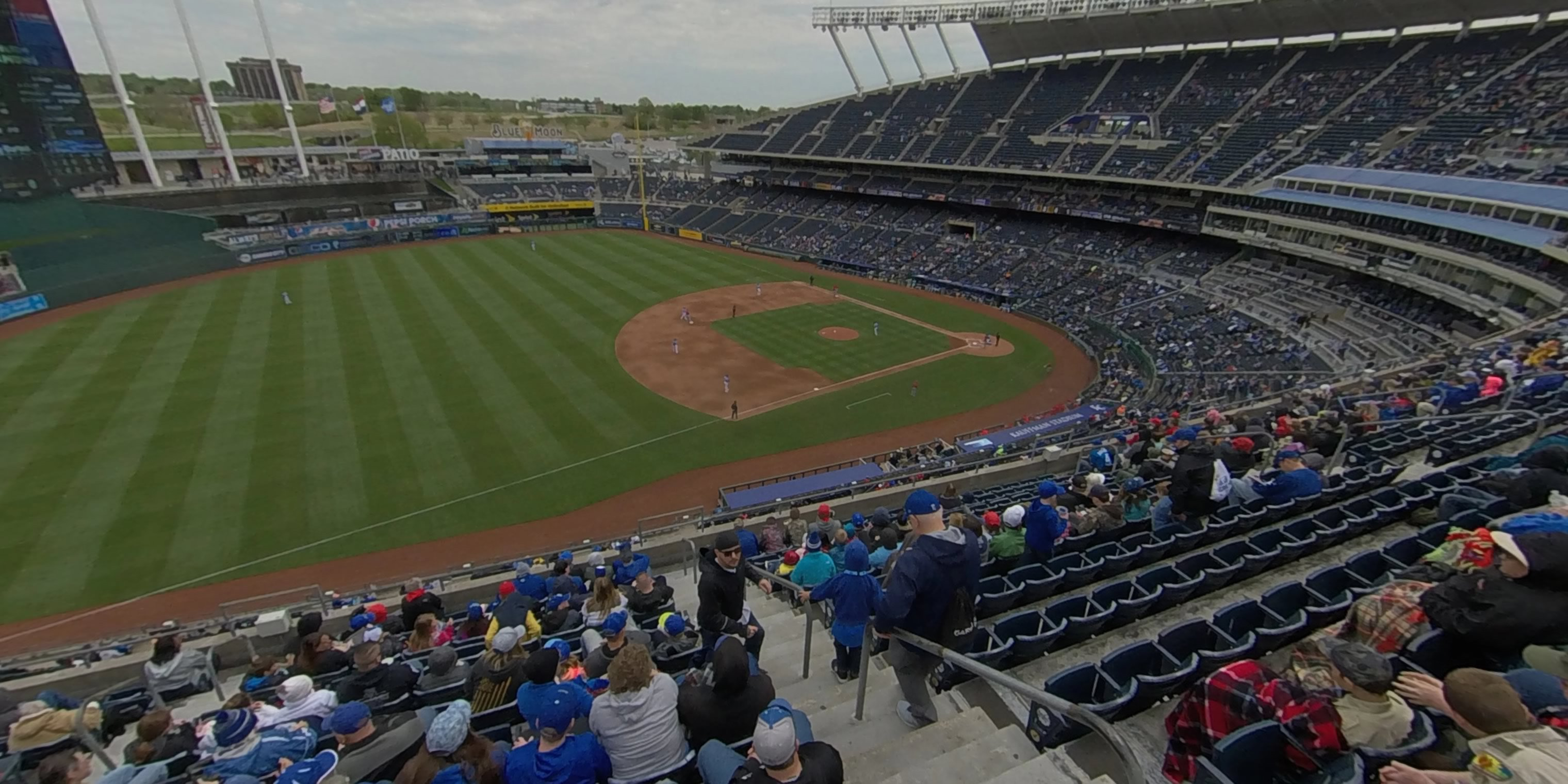 360° Photo From Kauffman Stadium Section 406